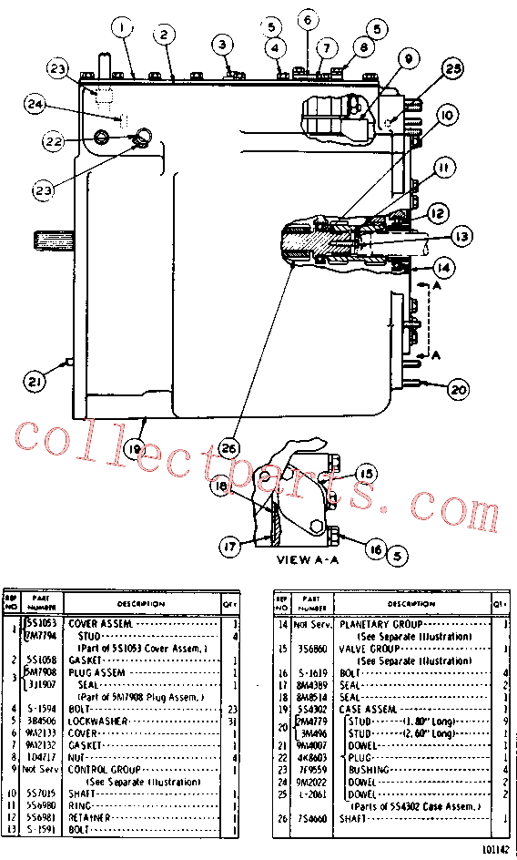 CAT 2M-4779 for 623E Wheel Tractor(WTS) power train - power transmission unit 5S-1049 Assembly