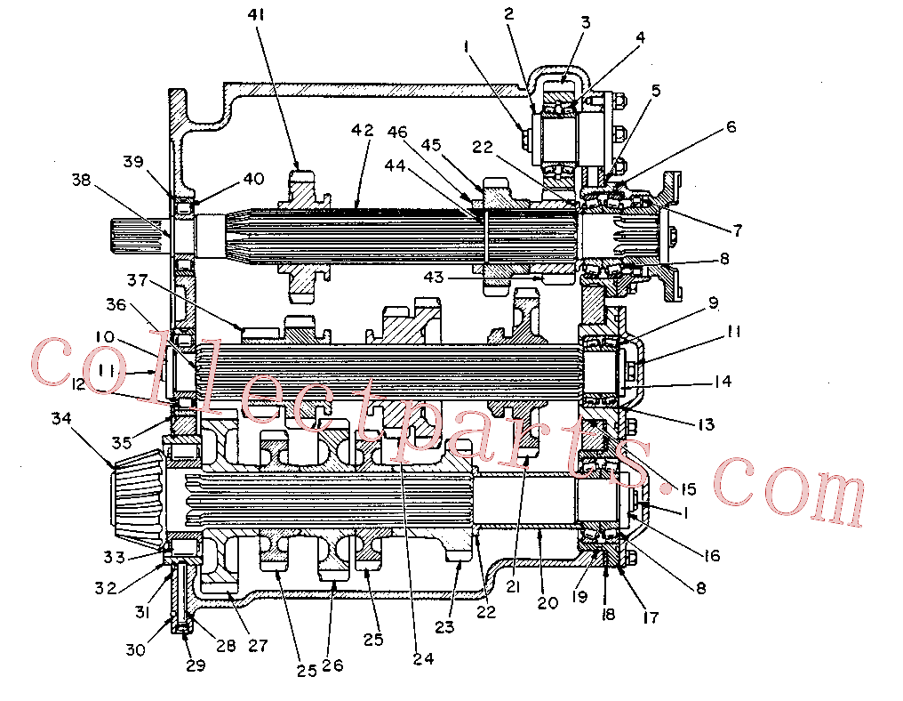 CAT 1H-8720 for 641 Wheel Tractor(WTS) power train-power transmission unit 3S-7094 Assembly