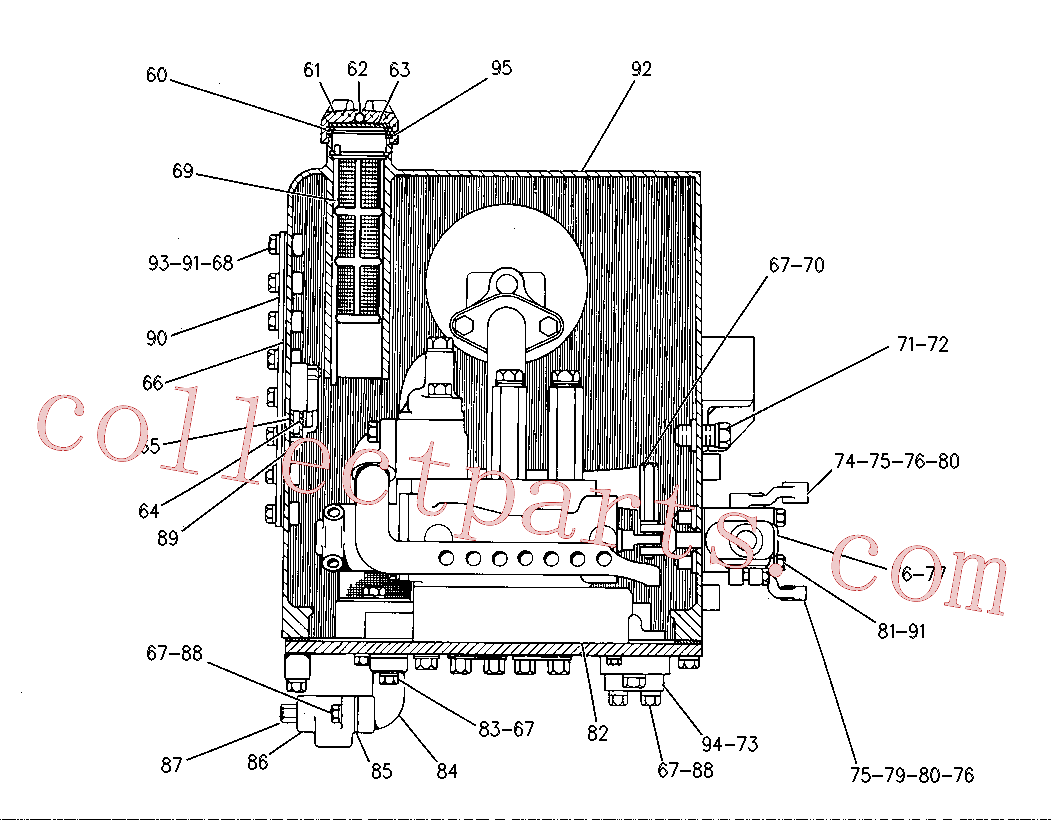 CAT 4J-6064 for 953 Ripper(TTL) hydraulic system 8J-0212 Assembly