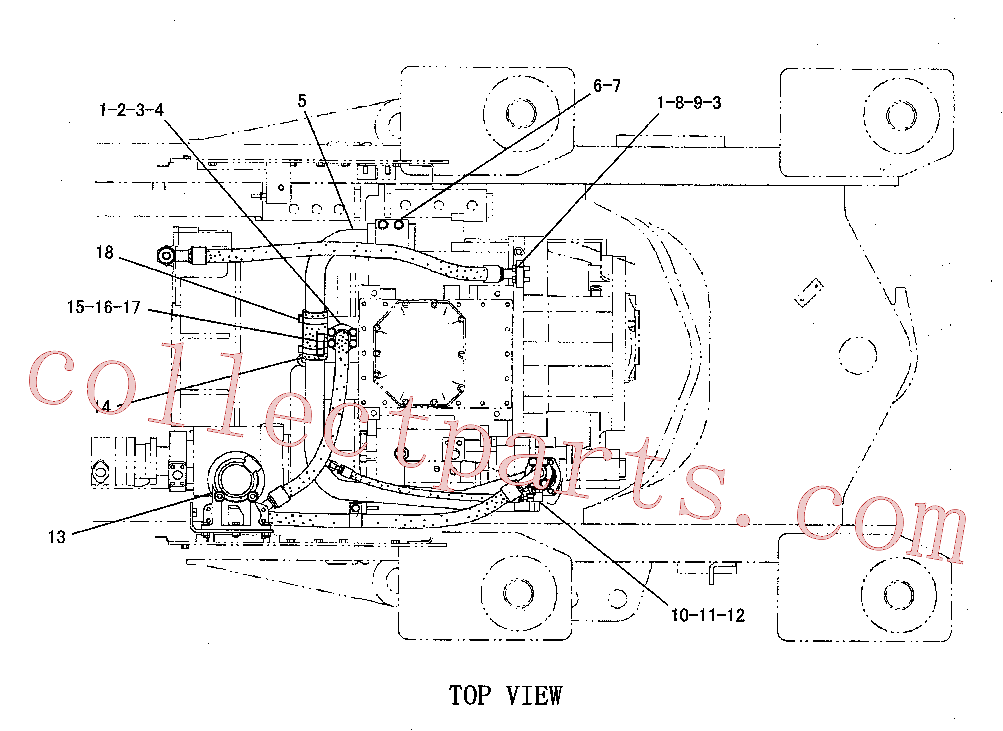 CAT 7X-0313 for 245 Excavator(EXC) power train 110-4775 Assembly
