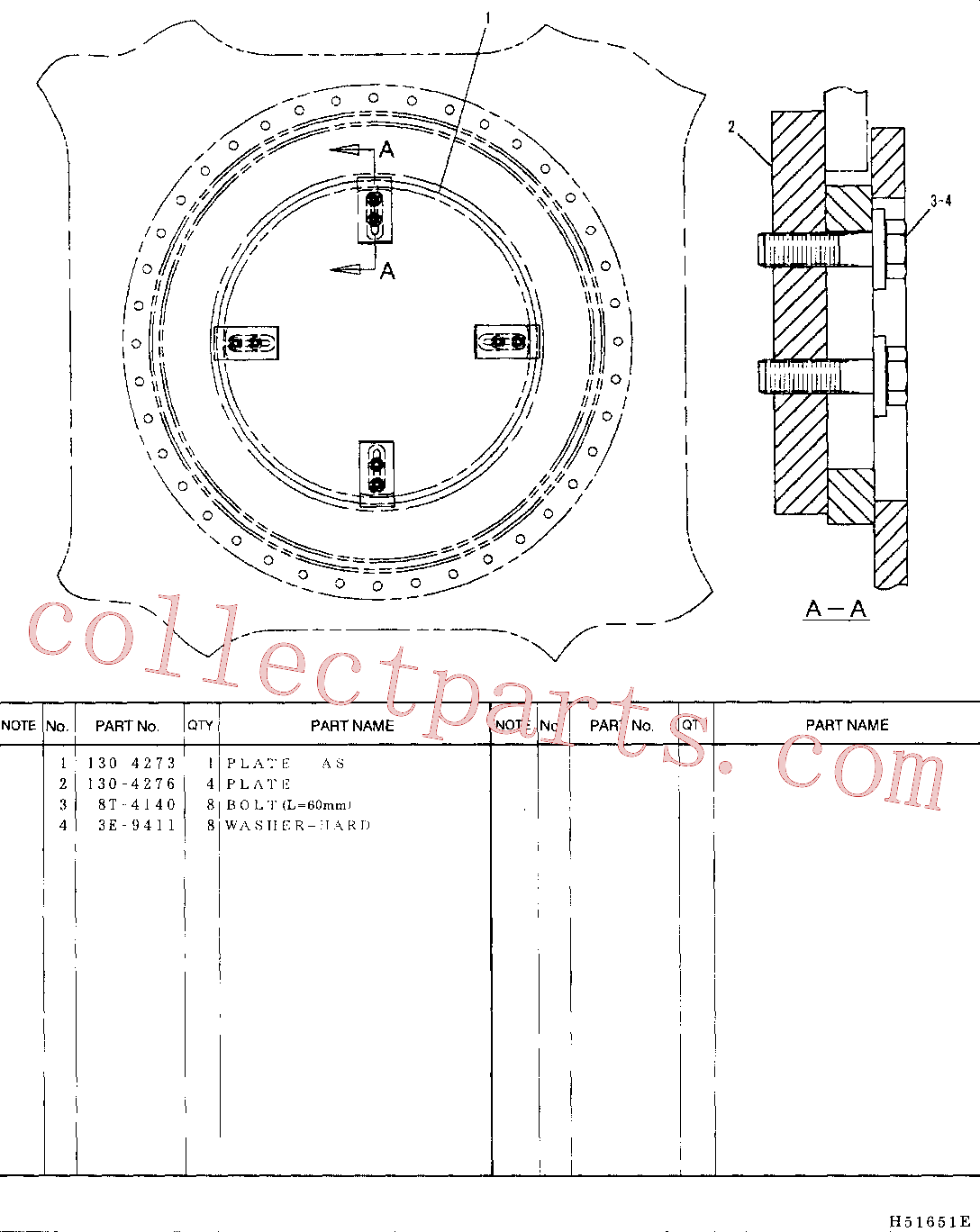 CAT 3E-9411 for 330C Excavator(EXC) frame and body 130-4272 Assembly