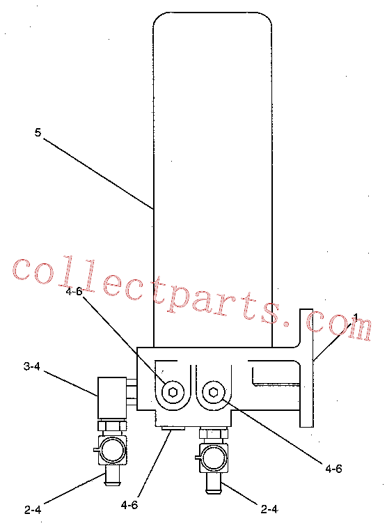 CAT 6V-0484 for D3G Track Type Tractor(TTT) fuel system 188-6125 Assembly