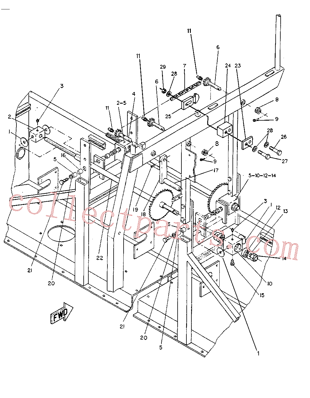 CAT 8C-6866 for 12M Motor Grader(MG) frame and body 6R-3378 Assembly