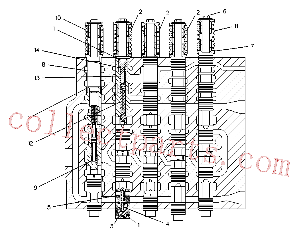 CAT 5I-4210 for 320-A L Excavator(EXC) hydraulic system 6C-7795 Assembly