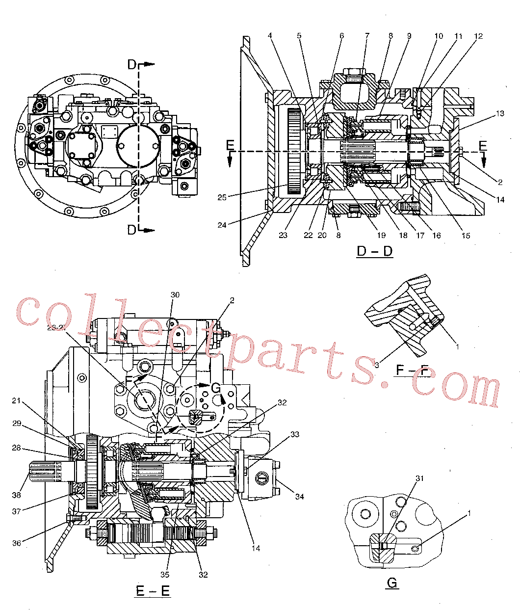 CAT 7Y-4215 for M325C MH Wheeled Excavator(WHEX) hydraulic system 173-3381 Assembly