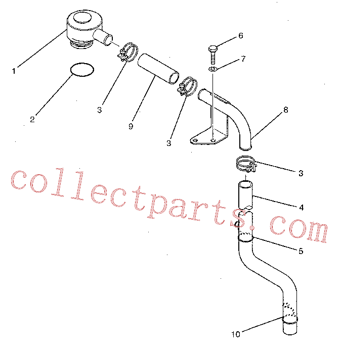 CAT 7X-0796 for 320C Excavator(EXC) lubrication system 178-6502 Assembly