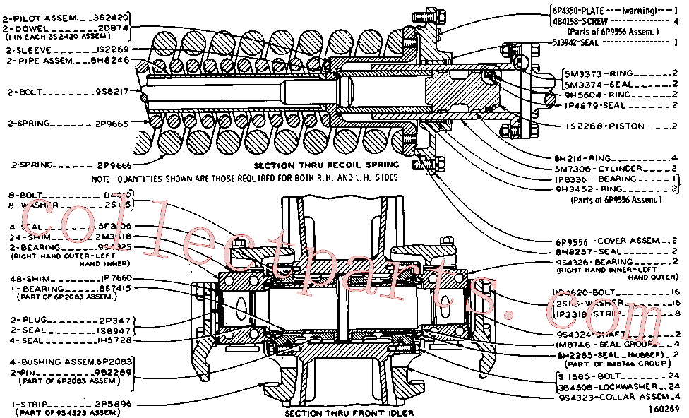 CAT 3B-4512 for 8A Bulldozer(TTT) chassis and undercarriage 3P-1758 Assembly