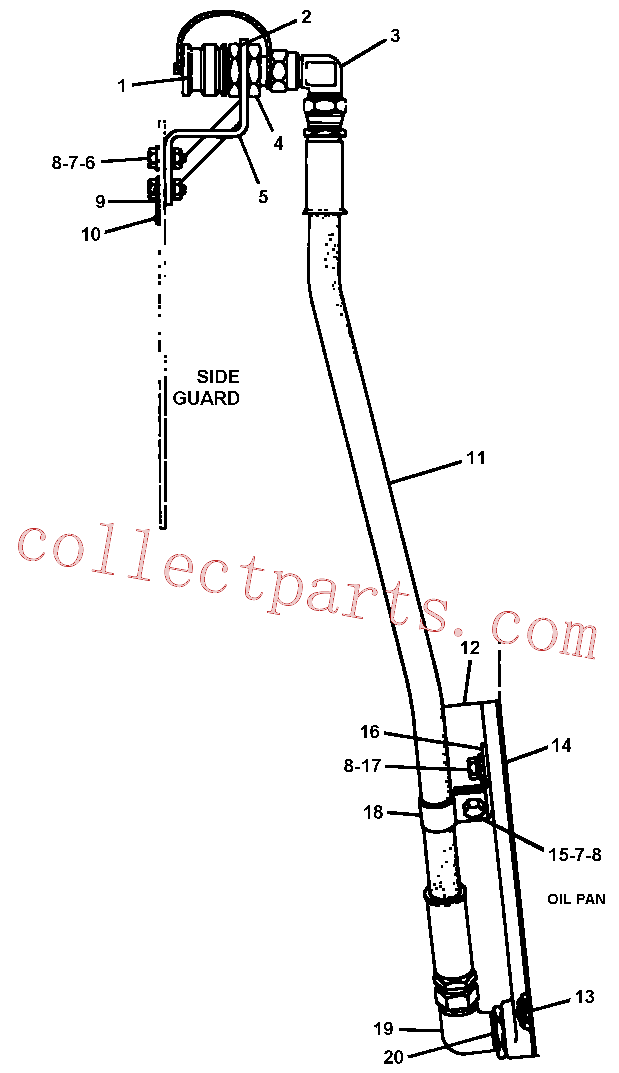 CAT 4N-3641 for 235B Excavator(EXC) engine related parts 4N-3648 Assembly