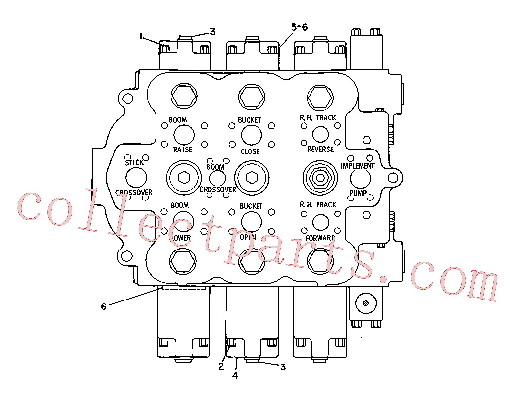 CAT 9T-0356 for 225 Excavator(EXC) hydraulic system 3G-3940 Assembly