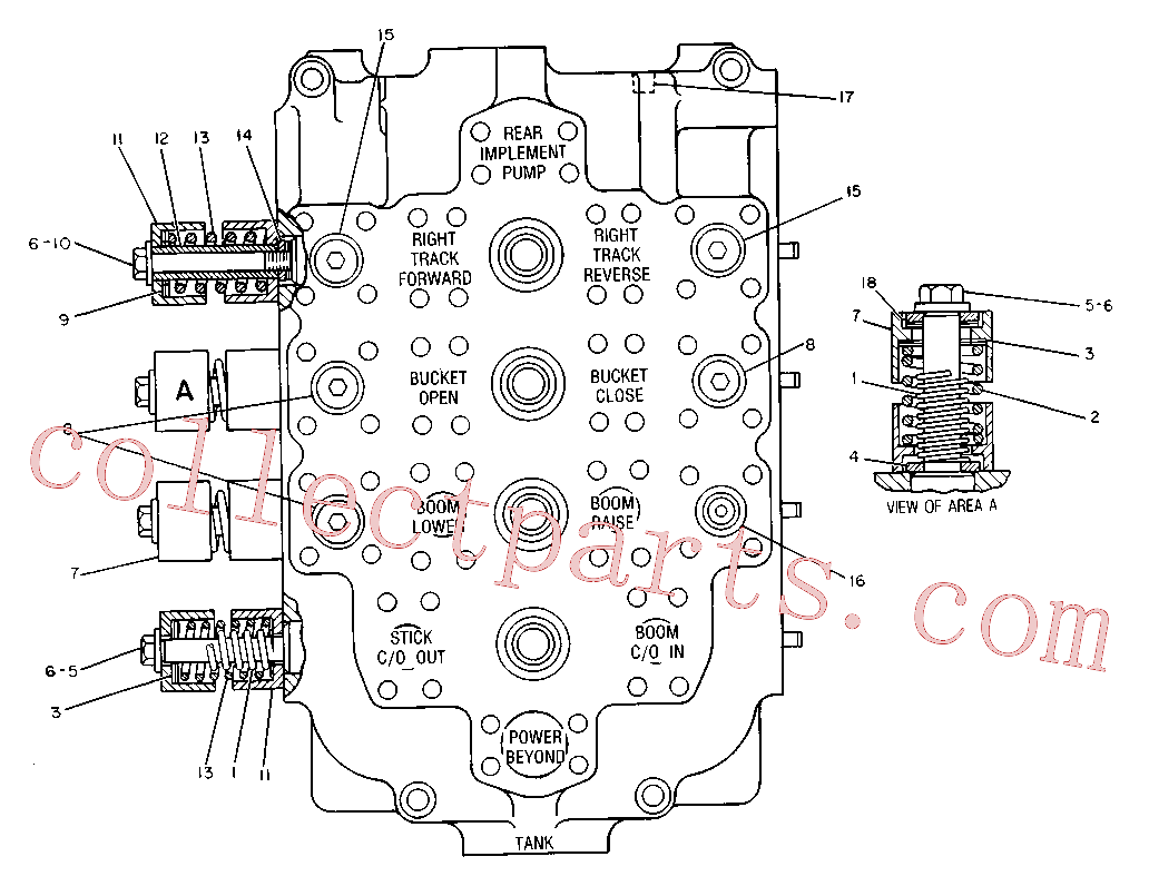 CAT 9T-0356 for 245 Excavator(EXC) hydraulic system 9T-6722 Assembly