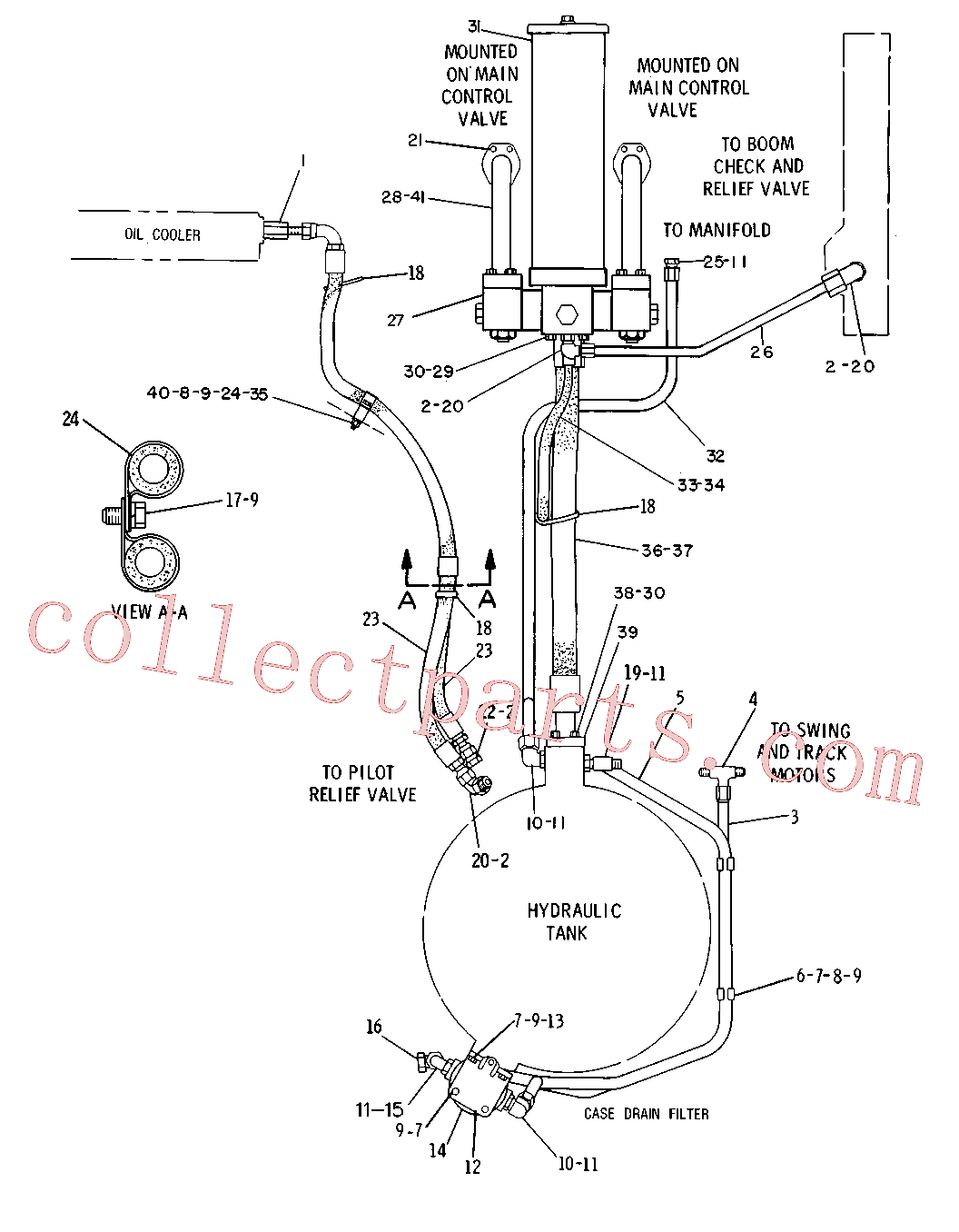 CAT 4J-6064 for 966C Wheel Loader(WTL) hydraulic system 5C-0383 Assembly