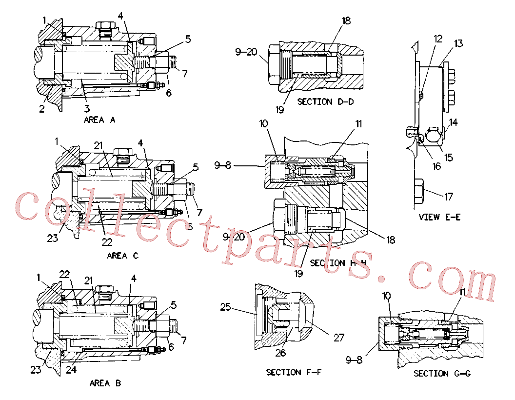 CAT 9T-0356 for 245 Excavator(EXC) hydraulic system 9T-2293 Assembly