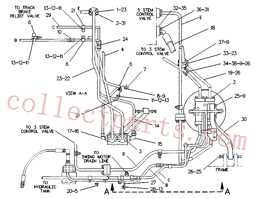 CAT 7X-0313 for 215C Excavator(EXC) hydraulic system 6W-9883 Assembly