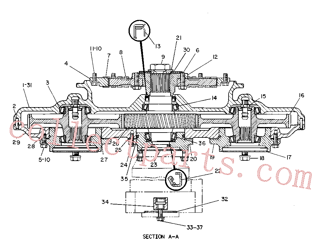 CAT 9T-2772 for 245B Excavator(EXC) power train 8R-7811 Assembly