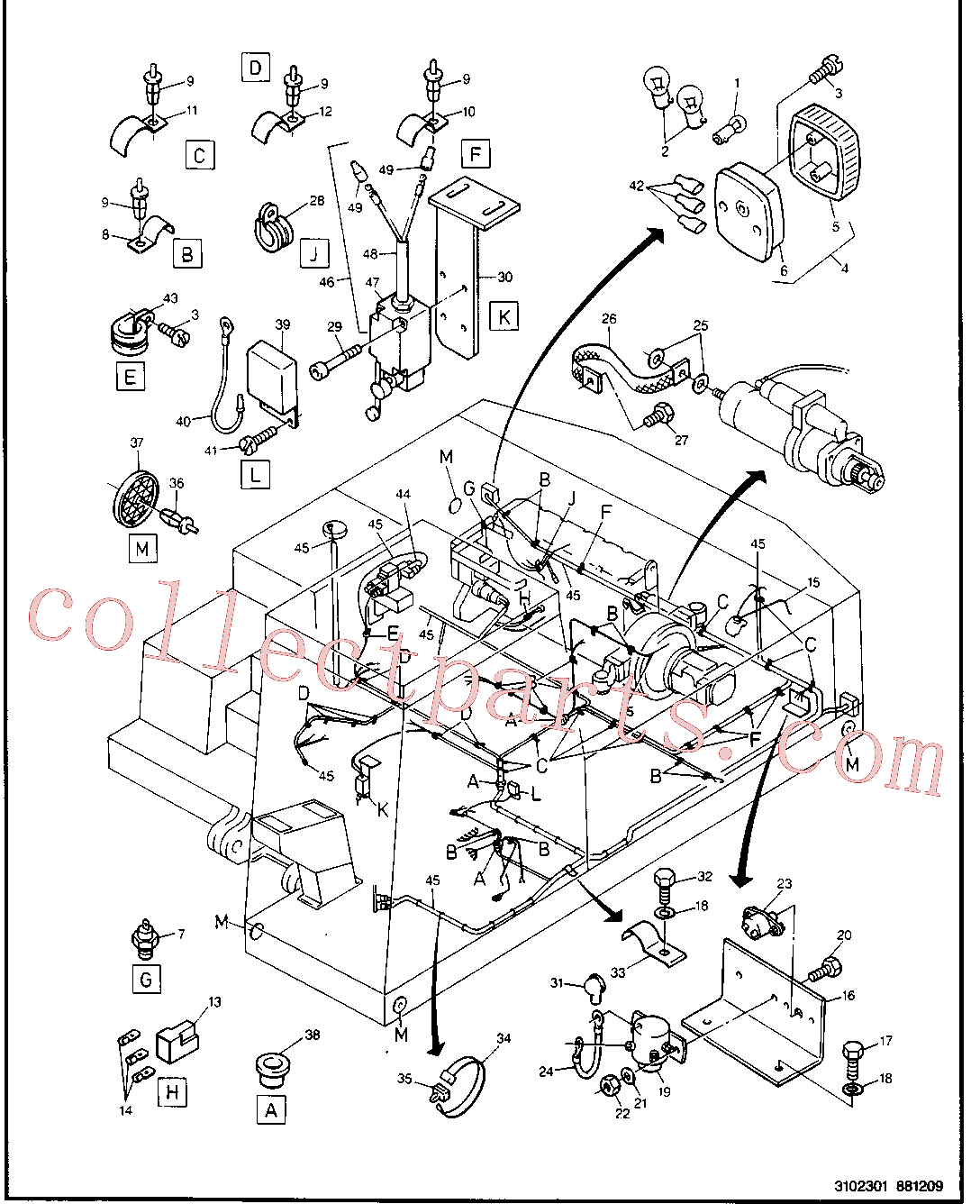 CAT 5W-9297 for 224B Excavator(EXC) electrical system 8U-0932 Assembly