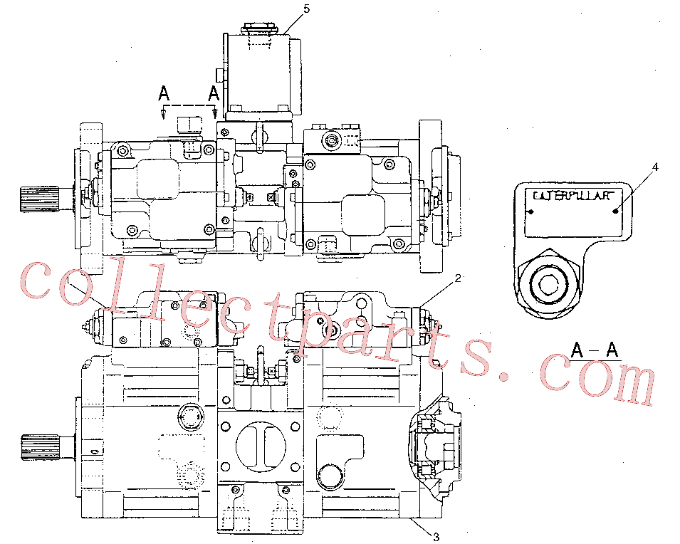CAT 129-7973 for 312B Excavator(EXC) hydraulic system 133-6717 Assembly