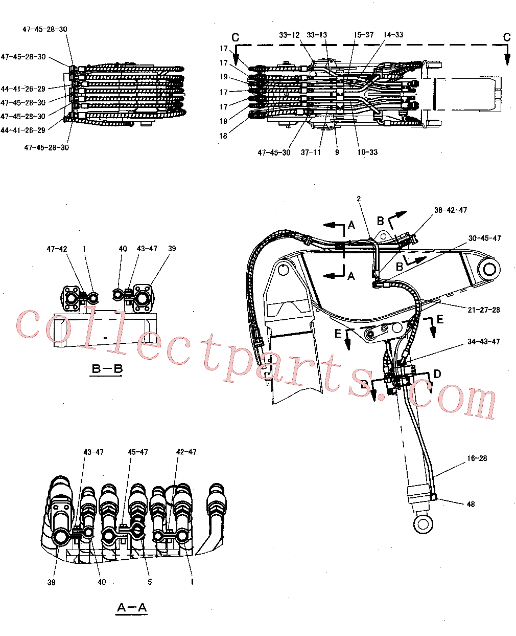 CAT 263-4715 for 345C Excavator(EXC) hydraulic system 300-8170 Assembly