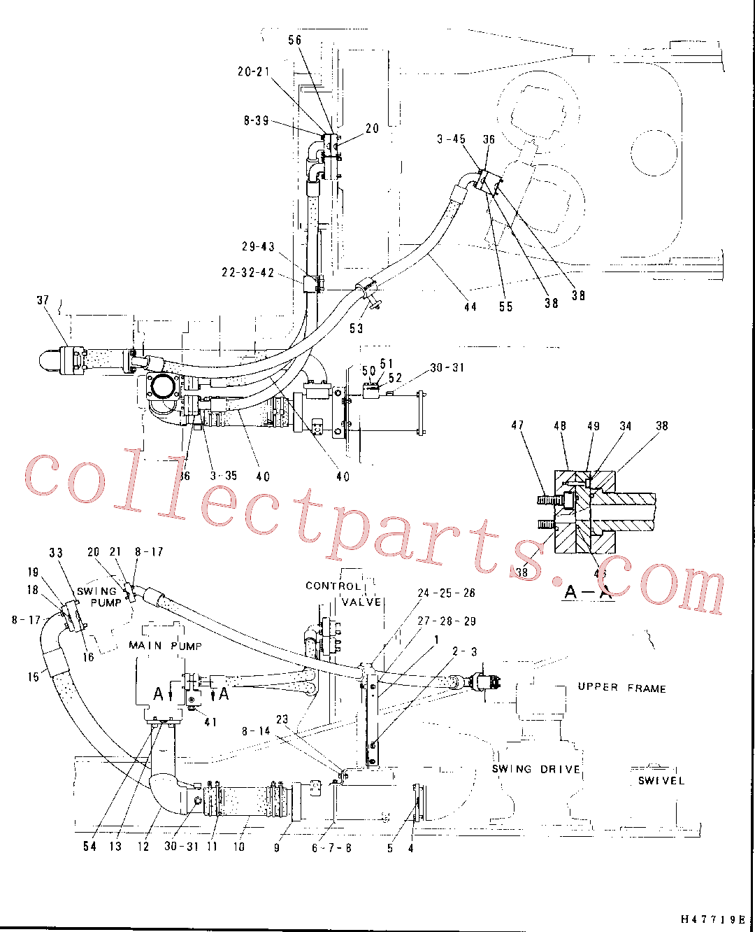 CAT 4I-3722 for 350-A Excavator(EXC) hydraulic system 4I-0948 Assembly