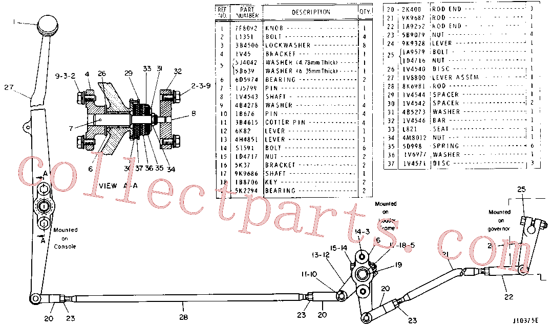 CAT 1A-9252 for D5B Track Type Tractor(TTT) fuel system and governor 9K-0035 Assembly