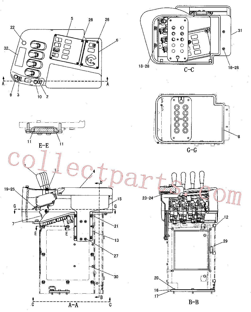 CAT 117-8929 for 375-A L Excavator(EXC) operator station 257-5663 Assembly