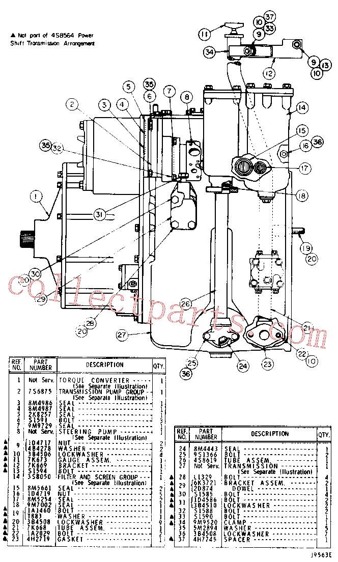 CAT 9M-2151 for 55 Winch(TTT) power train 4S-8564 Assembly