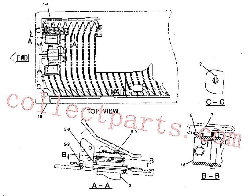 CAT 099-6141 for 323F Excavator(EXC) hydraulic system 111-6428 Assembly