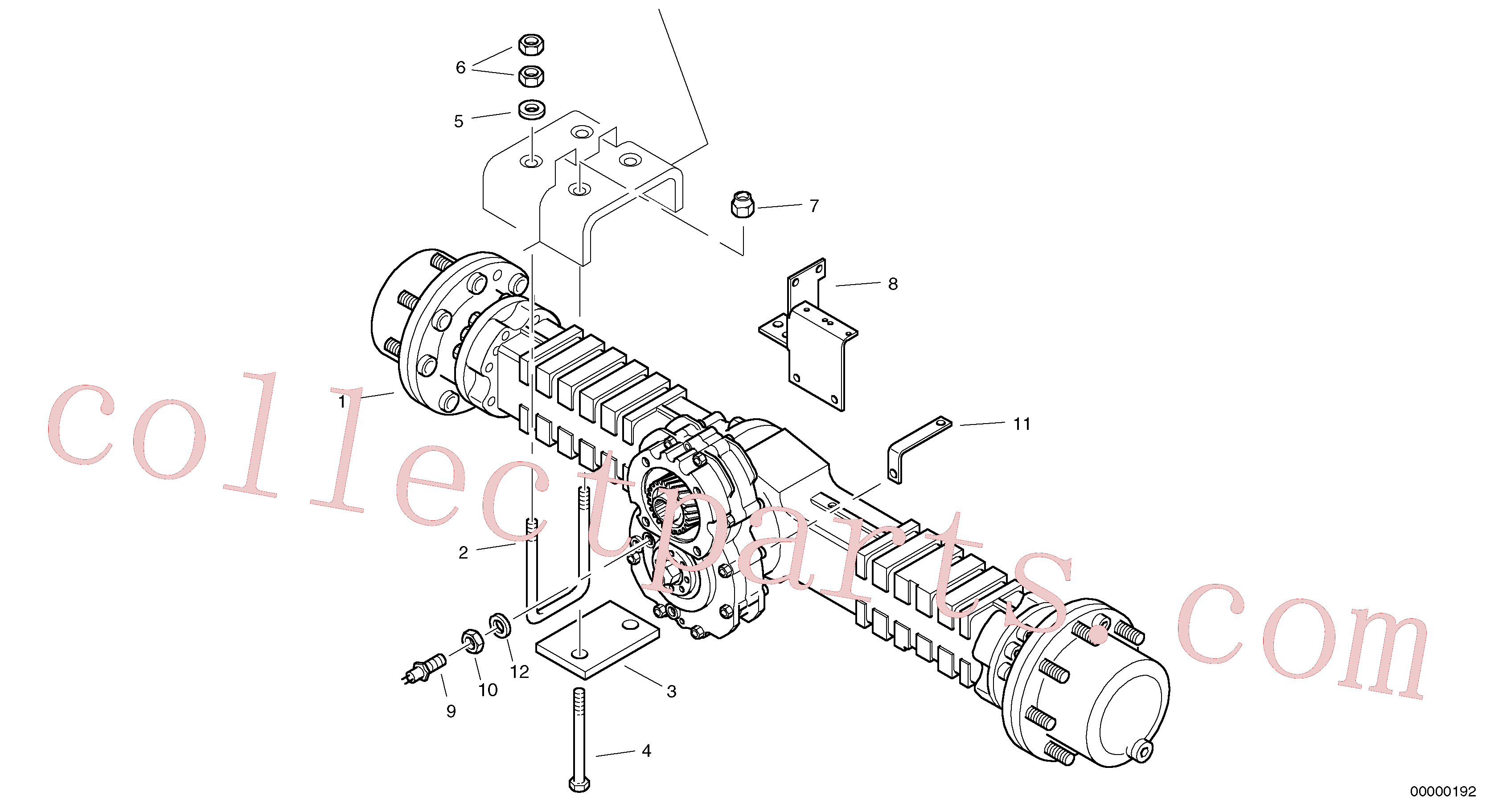 ZM4334154 for Volvo Assembly - rear axle(00000192 assembly)