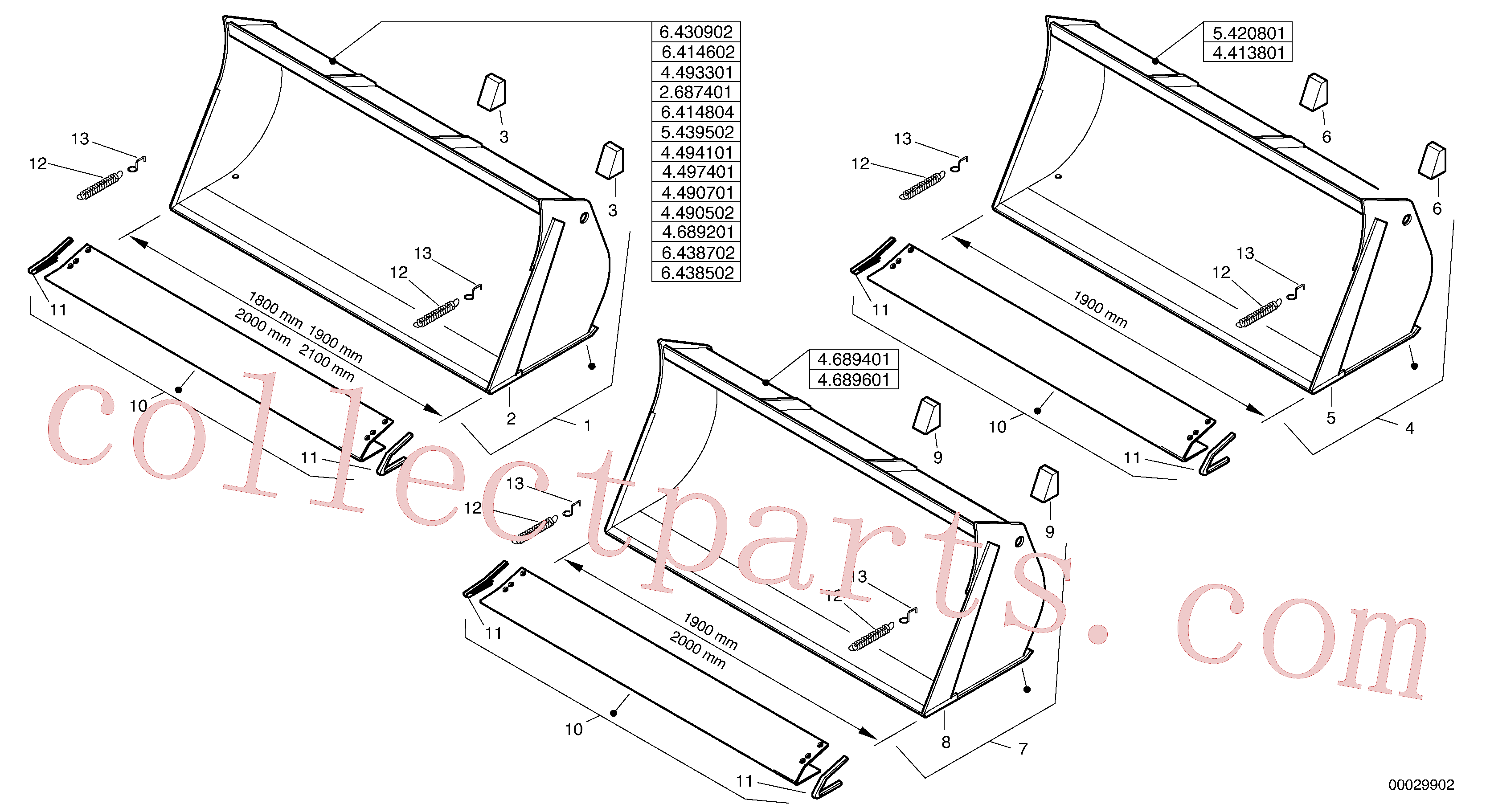 VOE11307933 for Volvo Bucket without teeth(00029902 assembly)