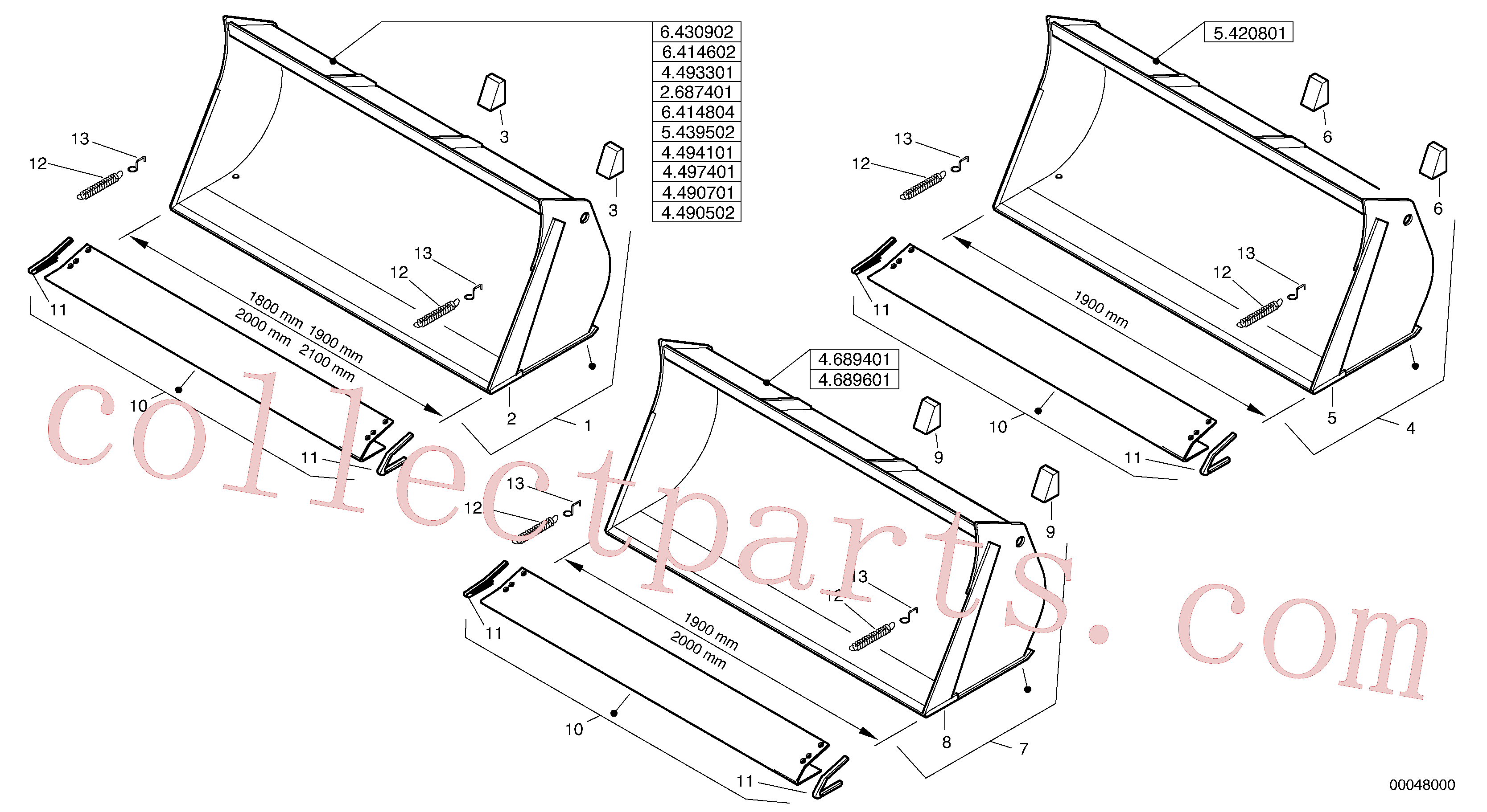 VOE11307933 for Volvo Bucket without teeth - Z-cinematic(00048000 assembly)