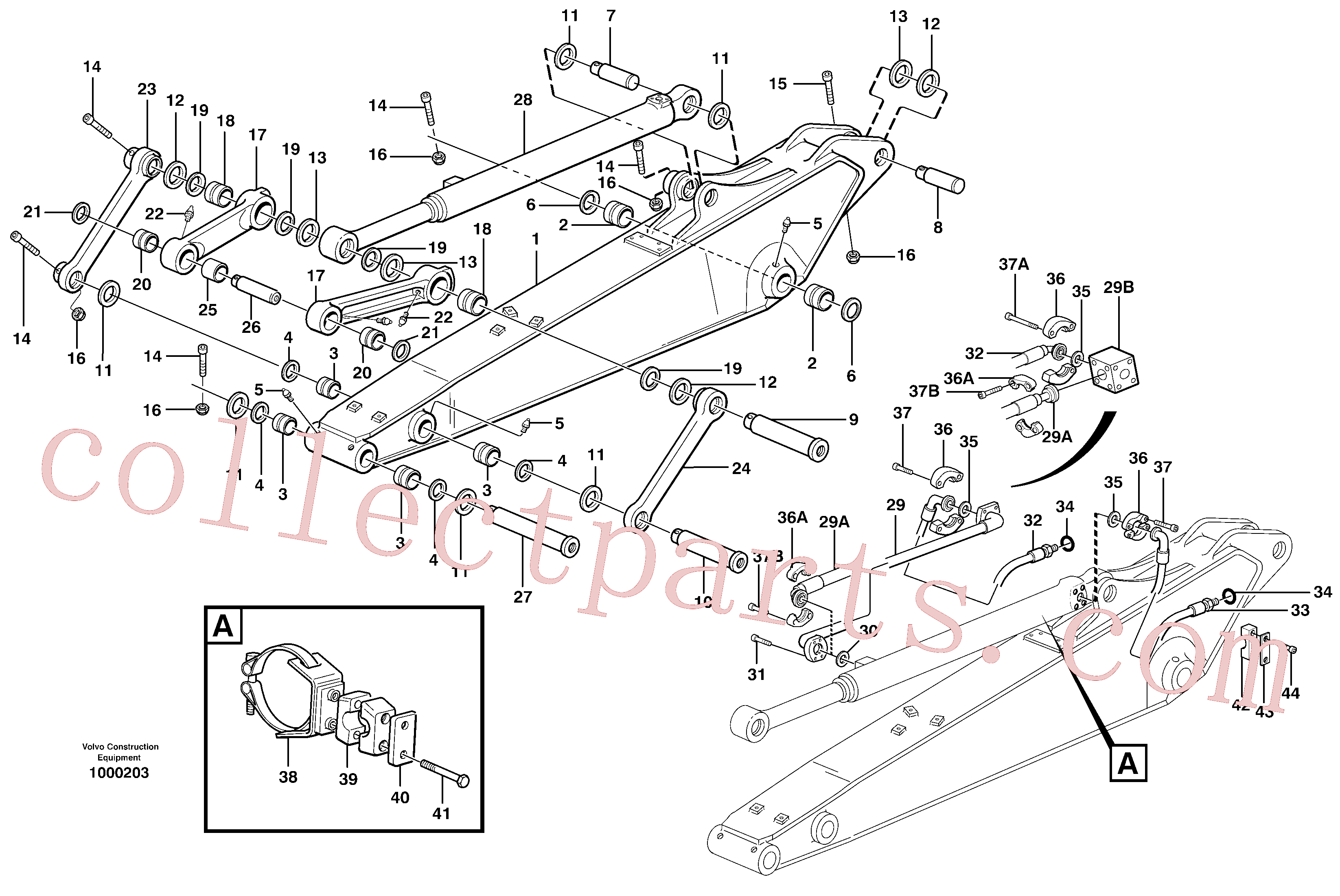 VOE14371893 for Volvo Dipper arm incl. connect.(1000203 assembly)