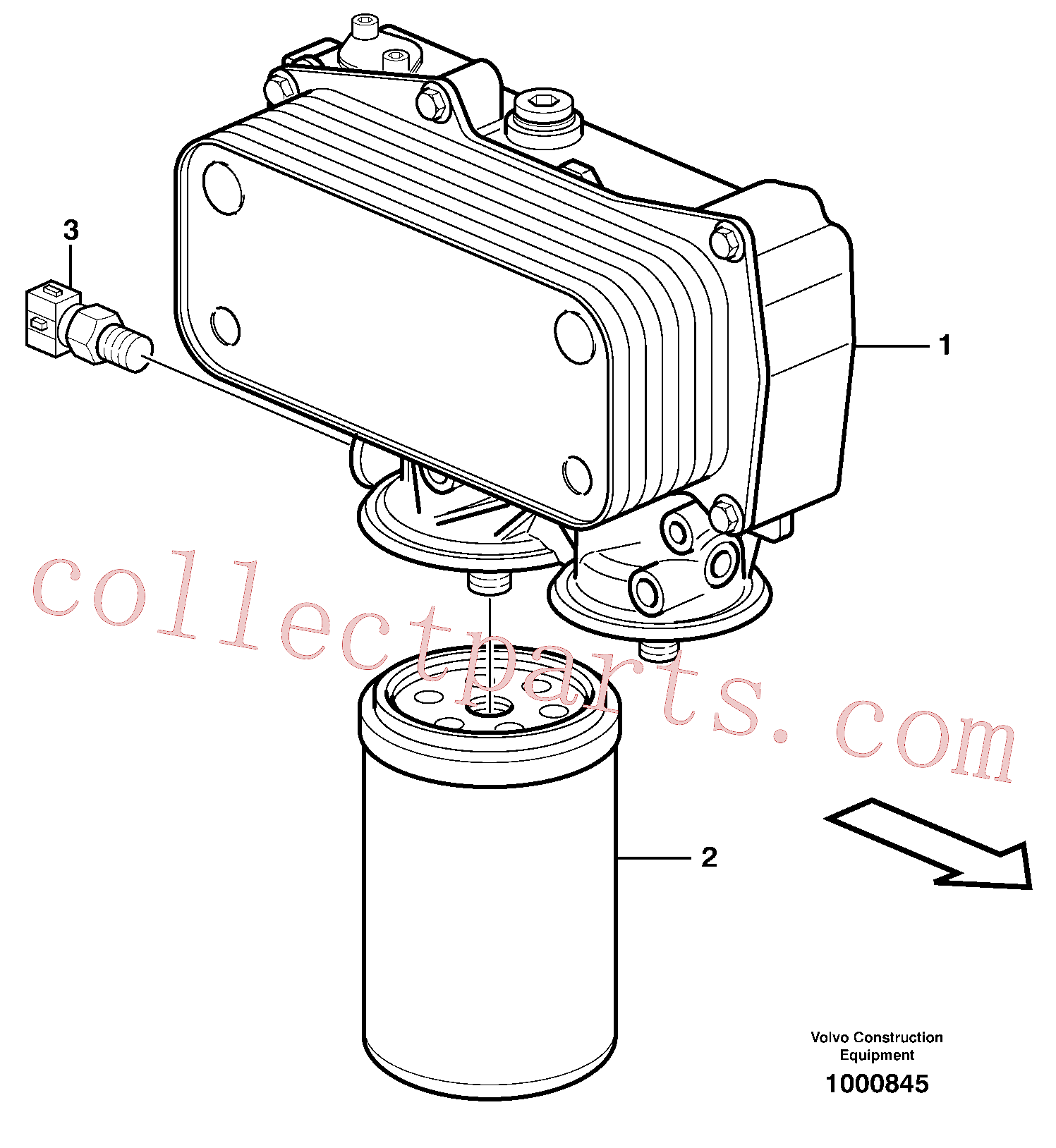 VOE17457469 for Volvo Oil filter(1000845 assembly)