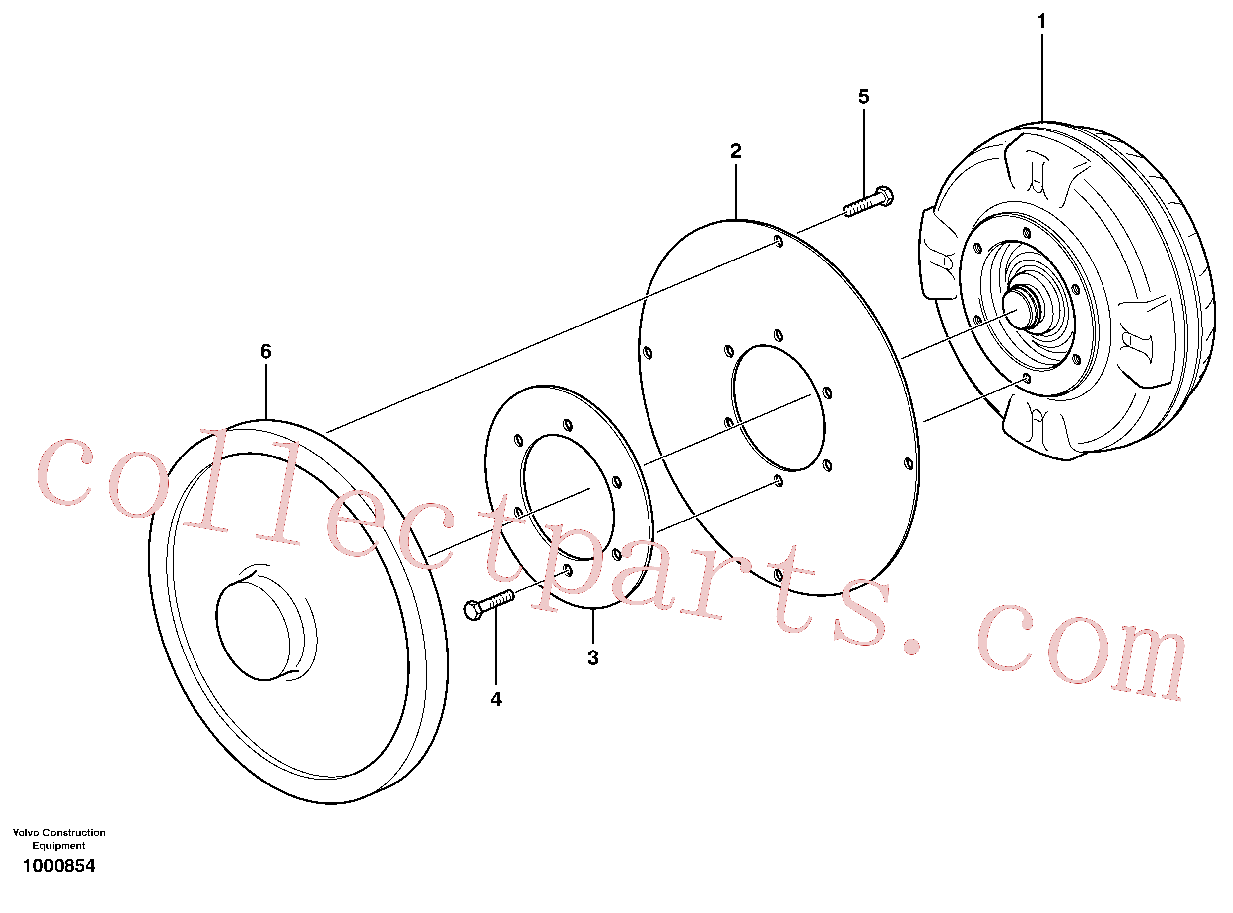 VOE13970876 for Volvo Torque converter with fitting parts(1000854 assembly)