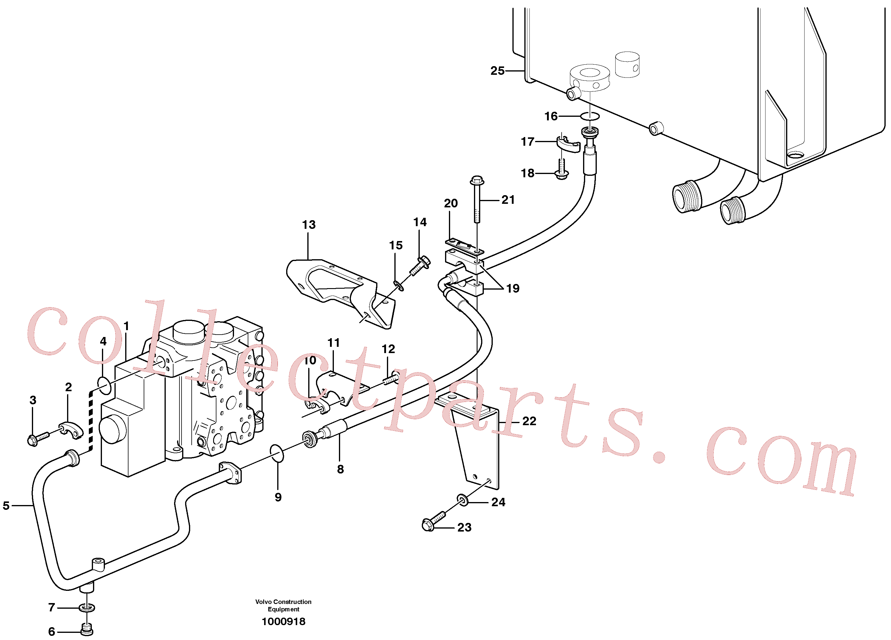 VOE13949239 for Volvo Hydraulic system, return line(1000918 assembly)