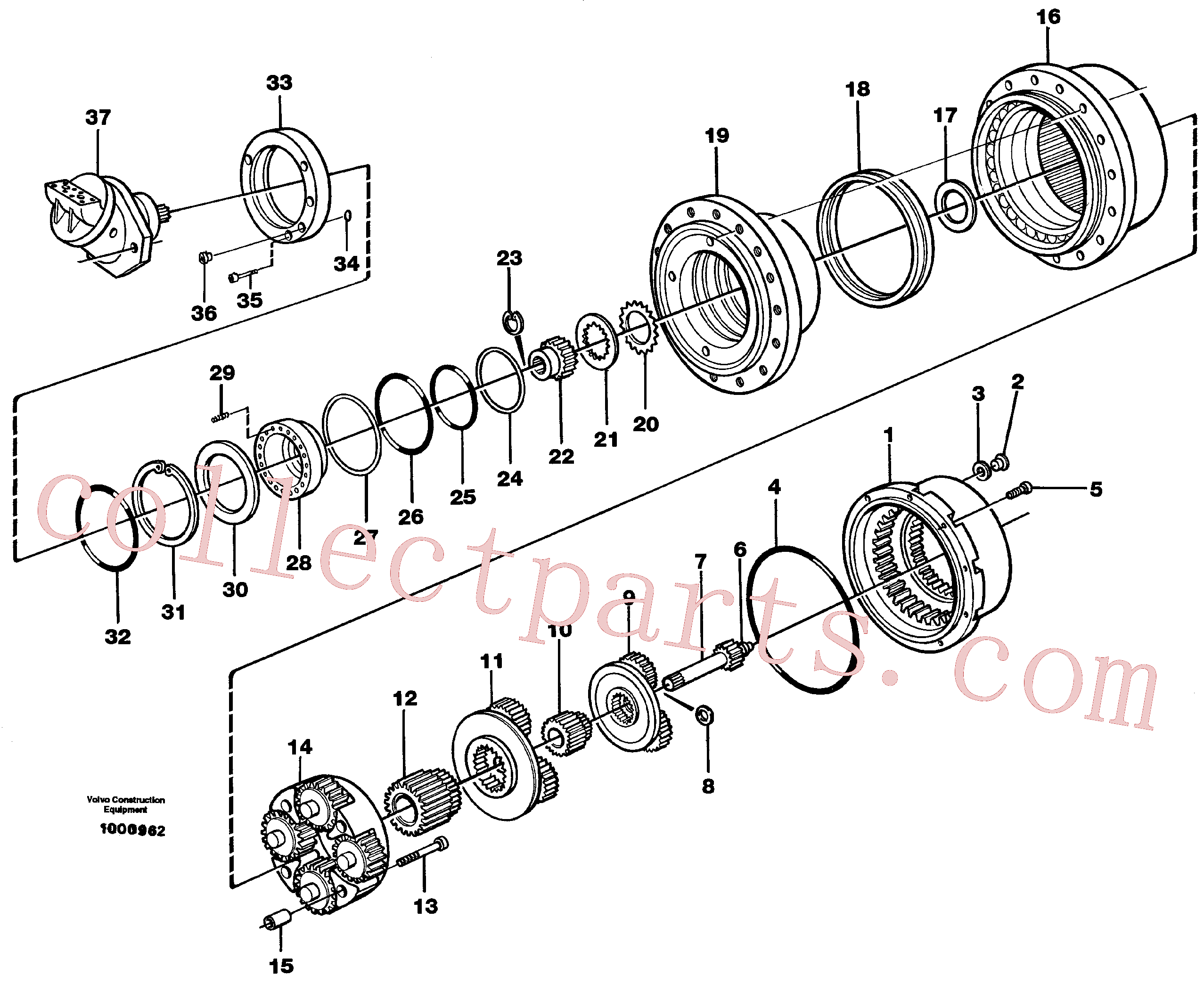 VOE11701197 for Volvo Planetary gear, travel(1000962 assembly)