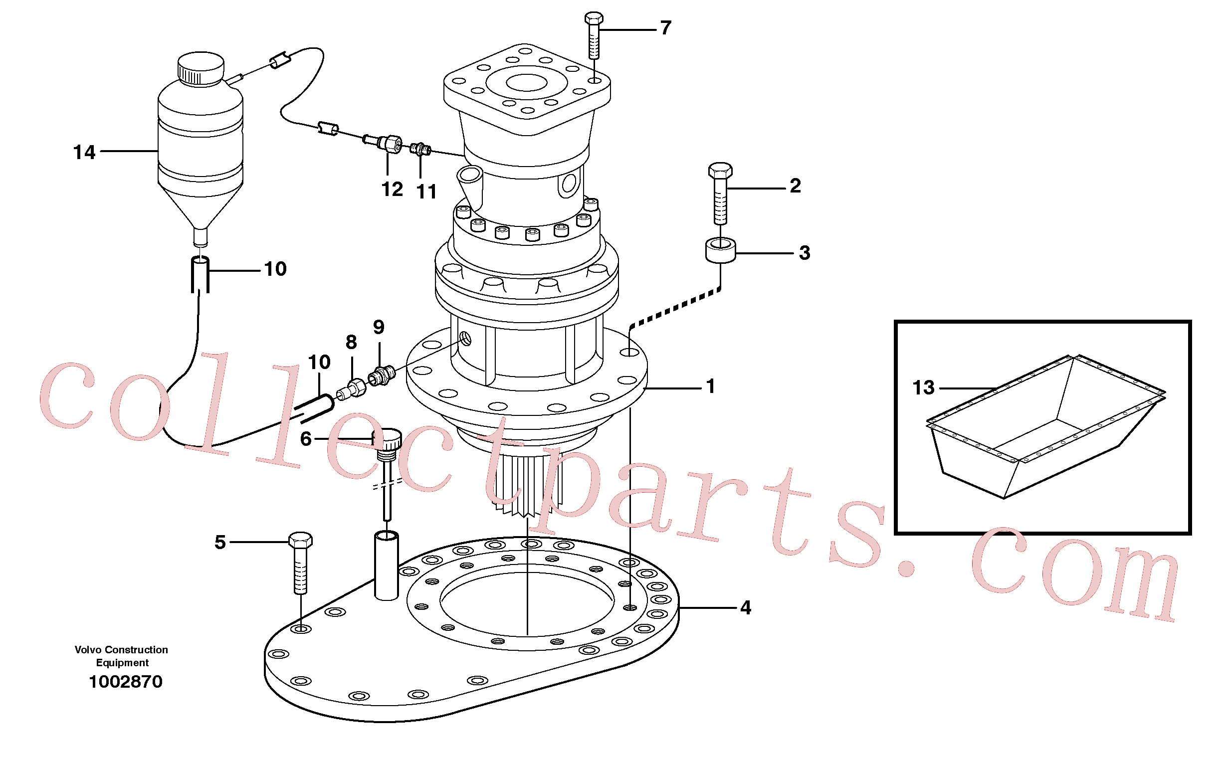 VOE14345323 for Volvo Rebuild kit, Swing gearbox(1002870 assembly)
