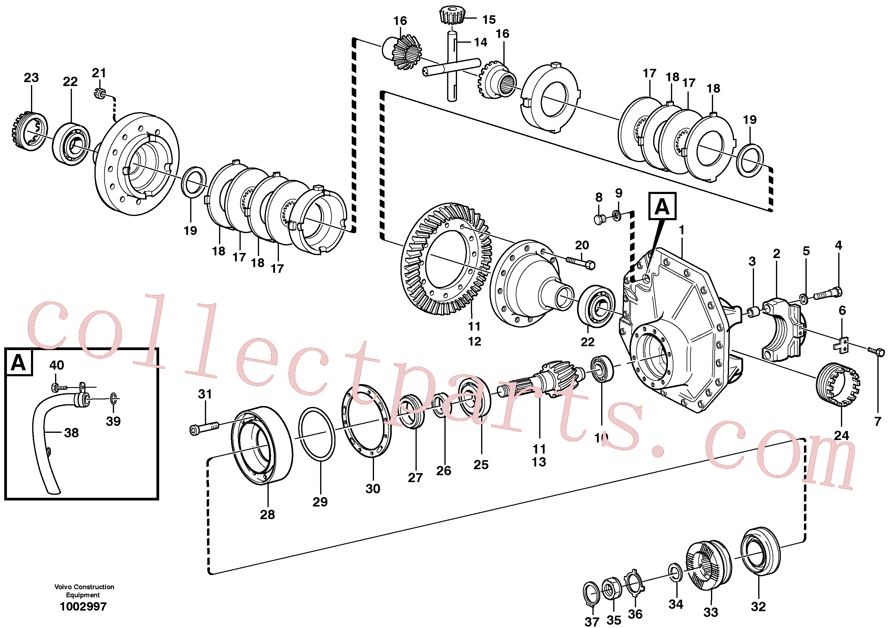 VOE1523737 for Volvo Final drive, rear(1002997 assembly)