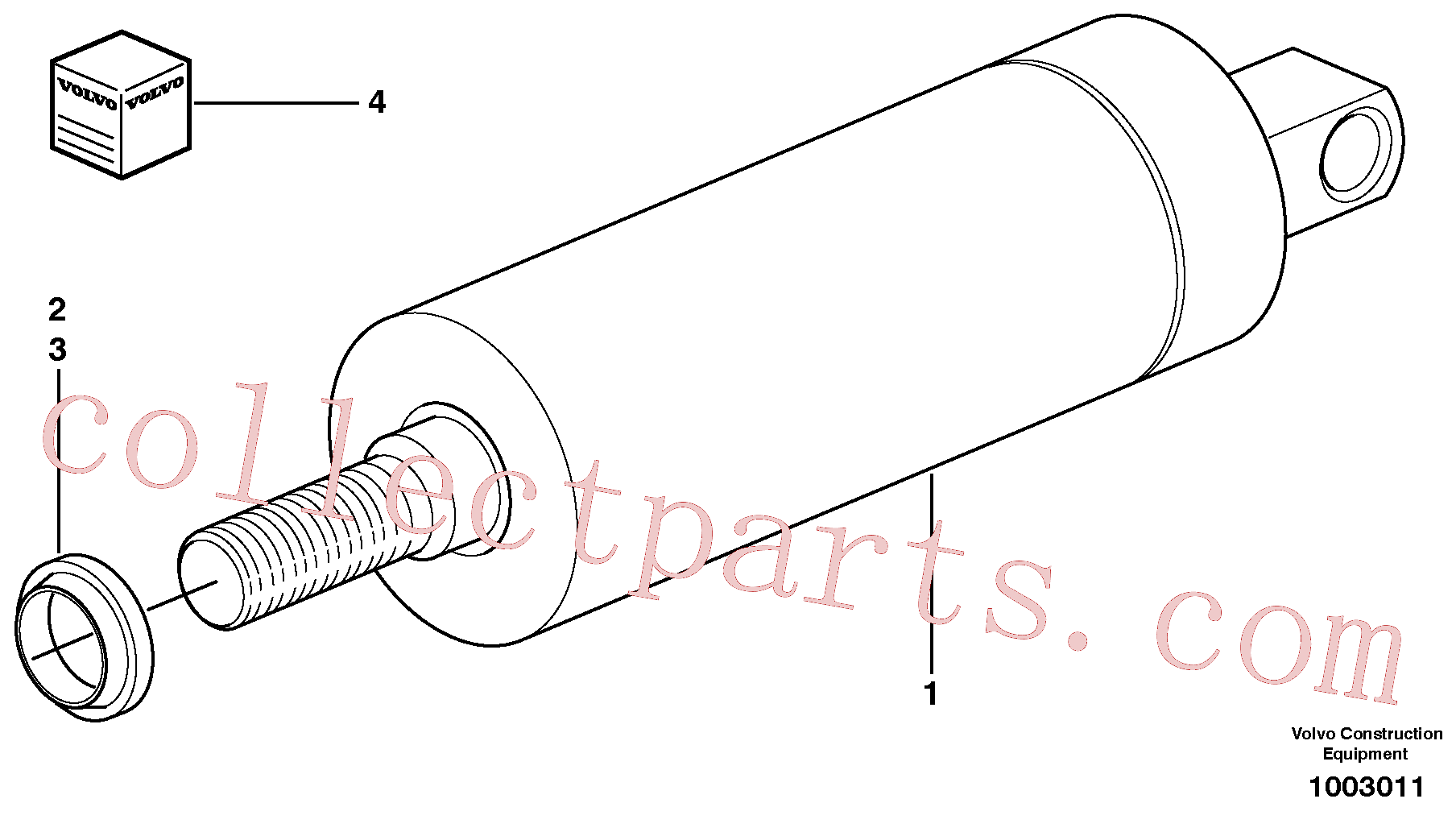 VOE11709679 for Volvo Lock cylinder(1003011 assembly)