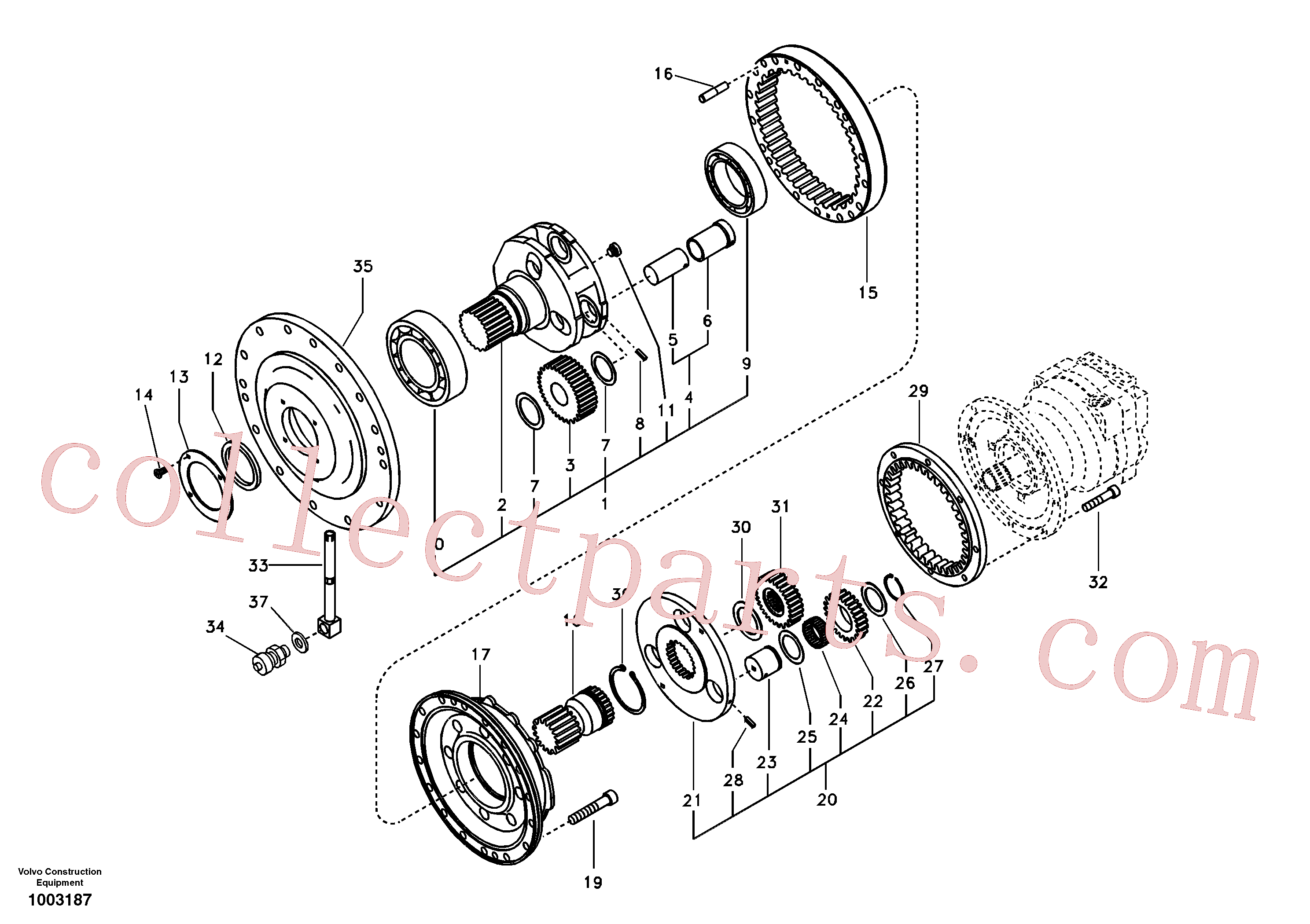 VOE7118-30620 for Volvo Swing gearbox(1003187 assembly)