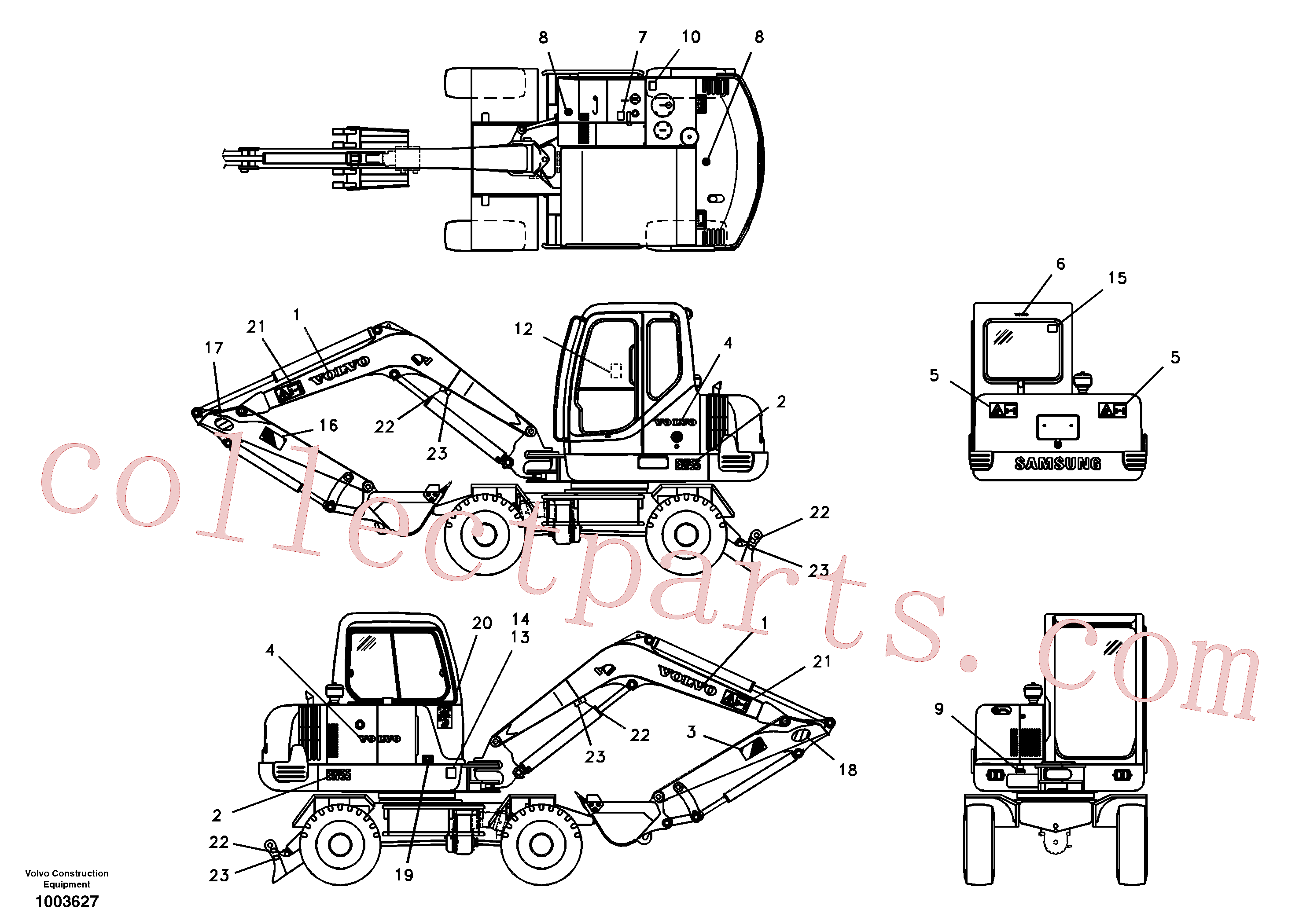 SAP4100152 for Volvo Decal, outer location(1003627 assembly)