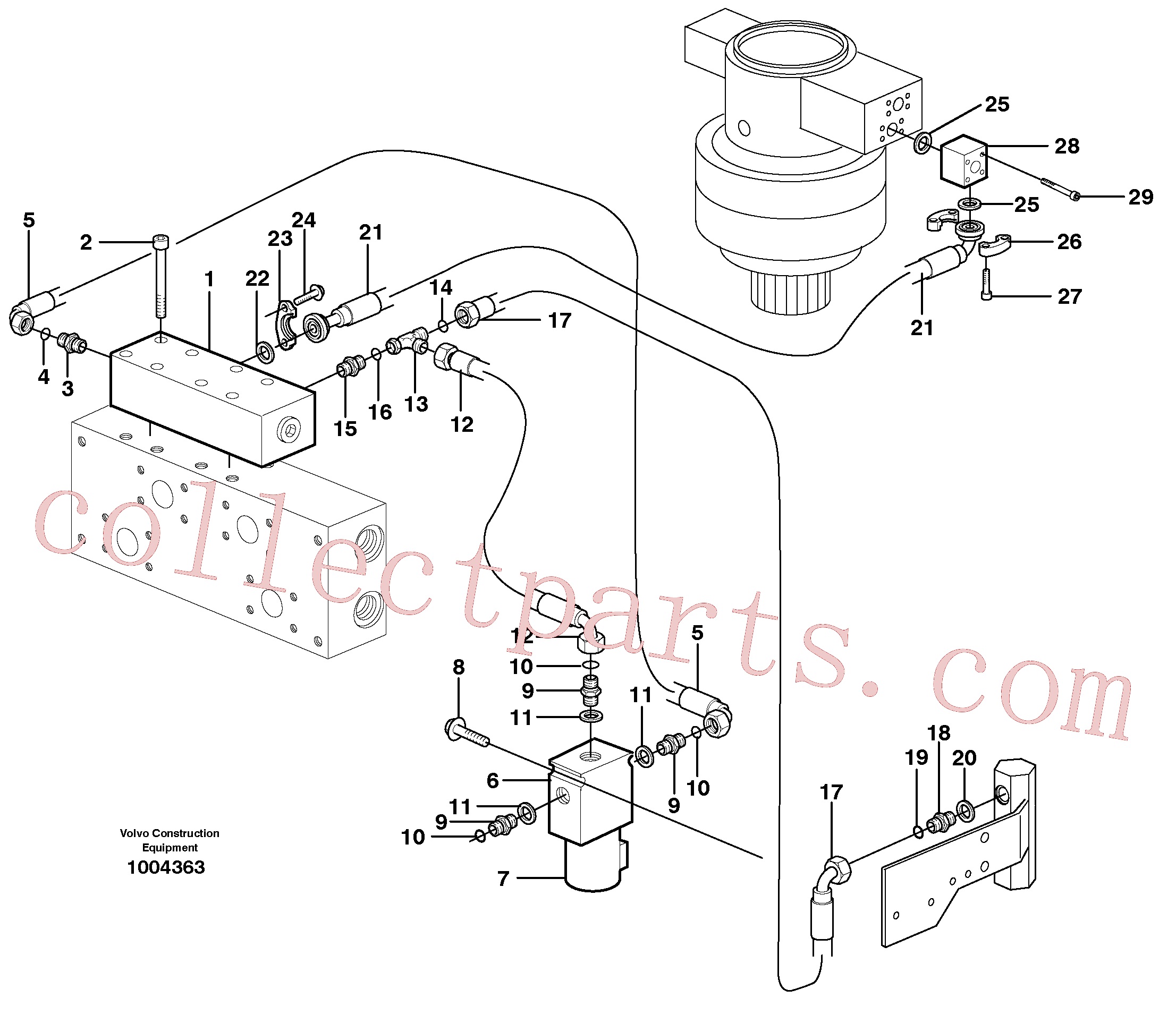 VOE14346520 for Volvo Hydraulic system, Float position valve(1004363 assembly)