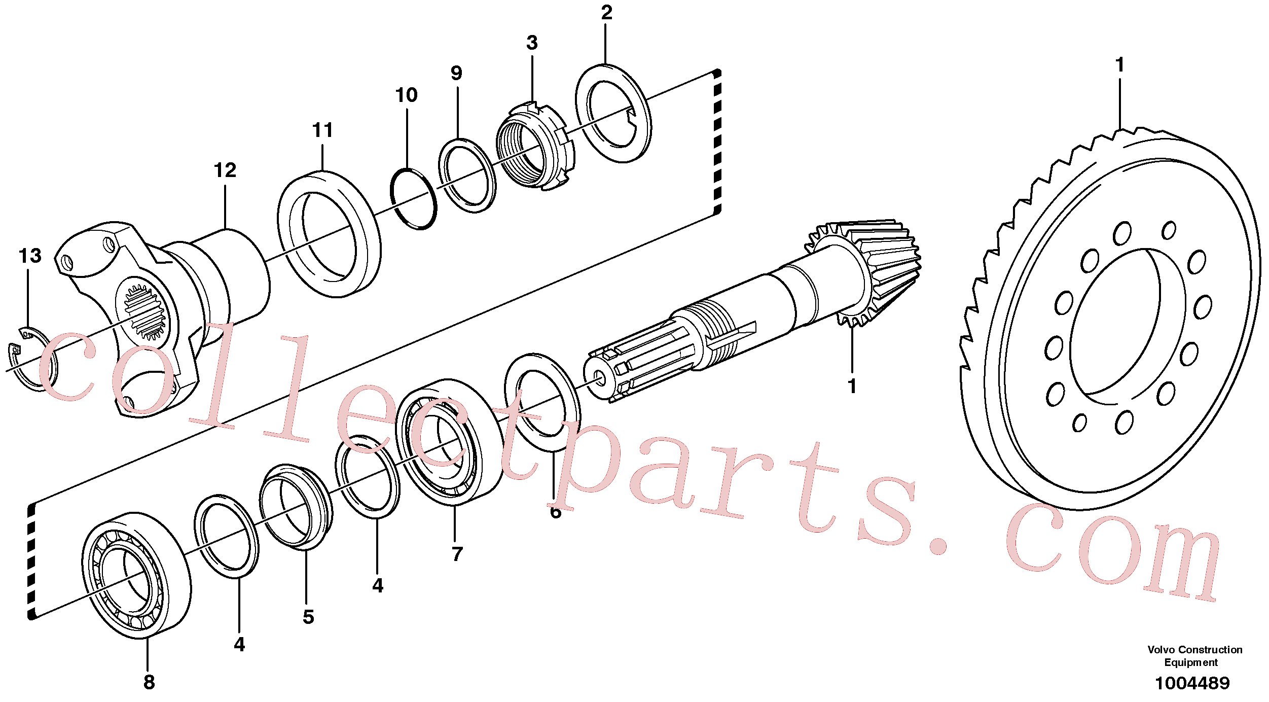 VOE11709293 for Volvo Pinion(1004489 assembly)