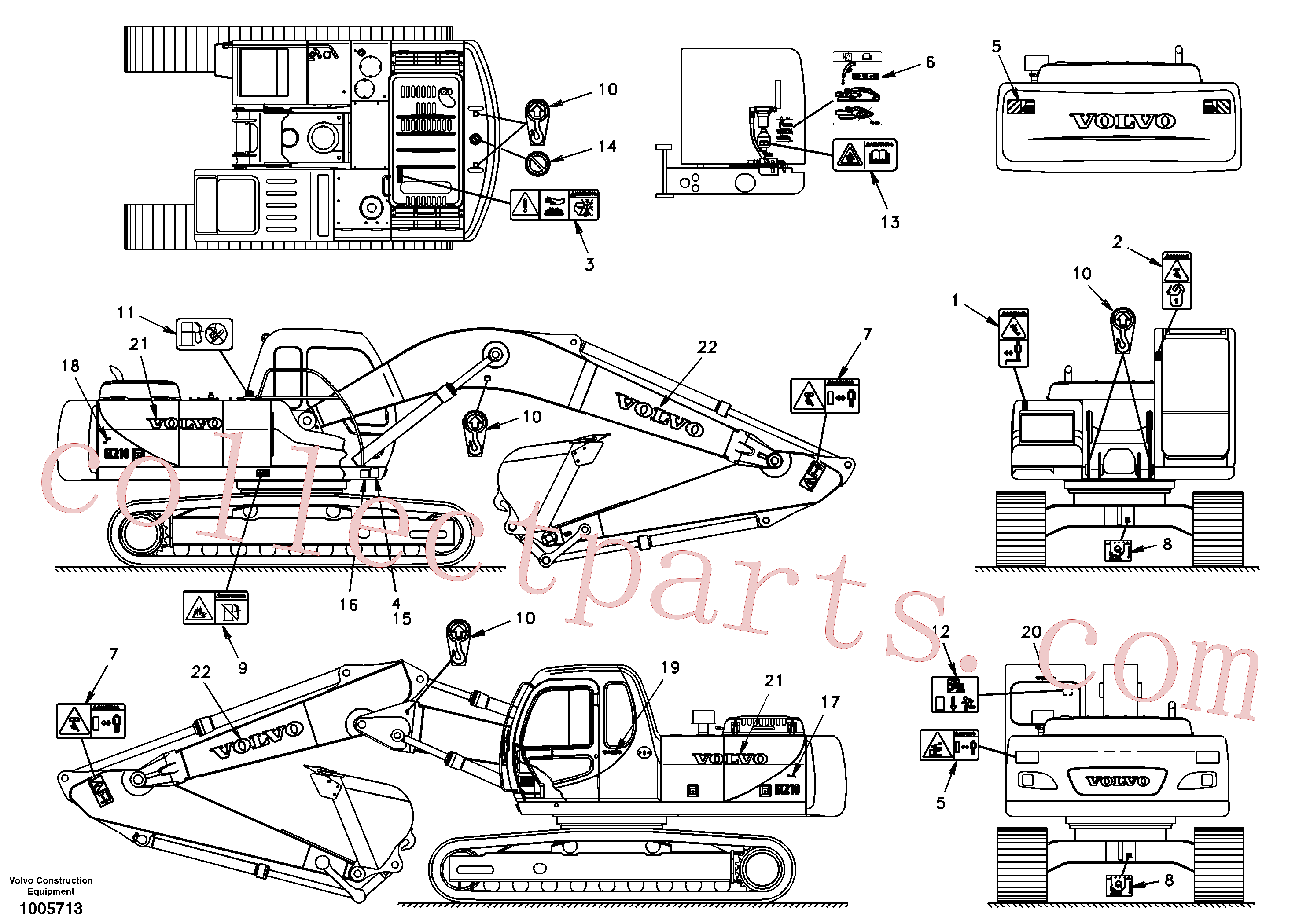 SAP4100152 for Volvo Decal, outer location(1005713 assembly)