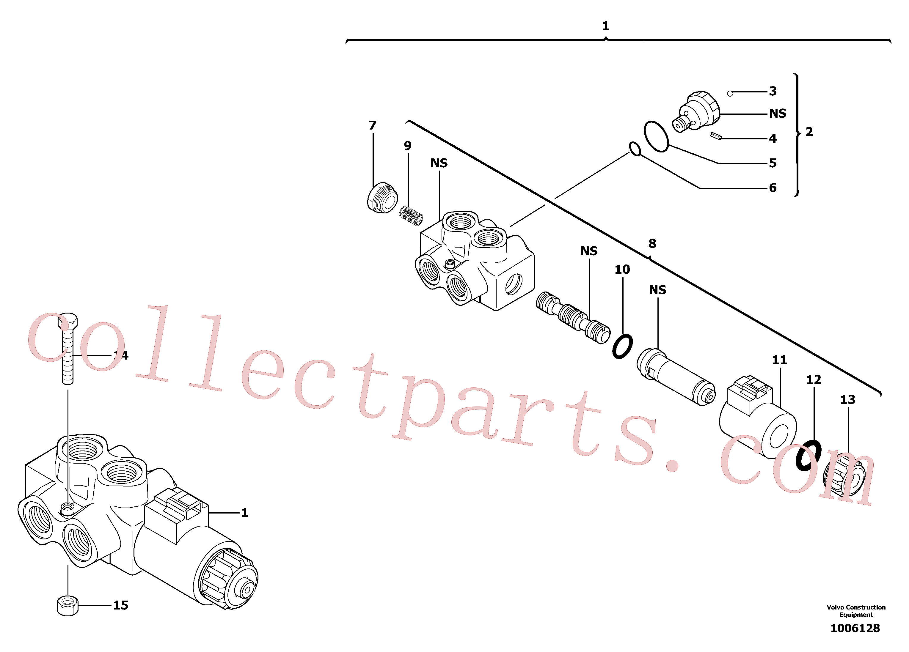 PJ7417495 for Volvo Slewing-offset selector switch(1006128 assembly)