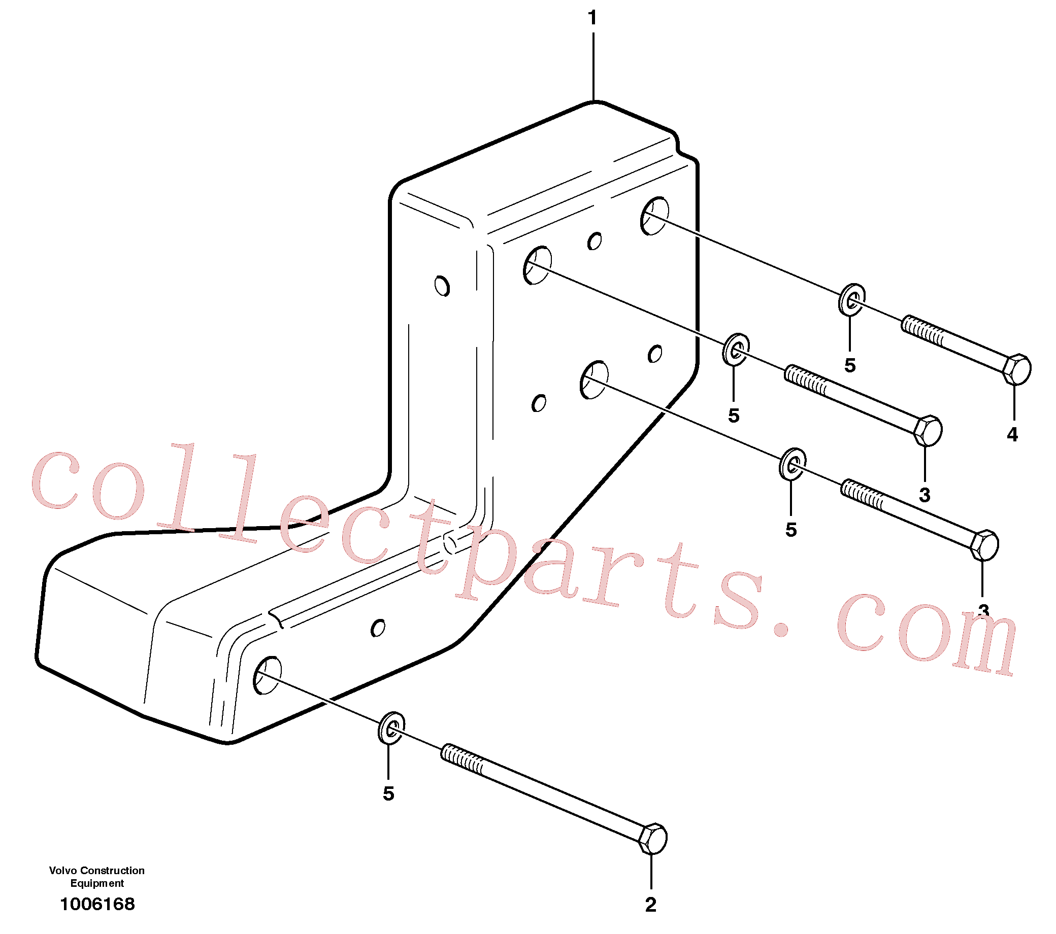 VOE13974302 for Volvo Counterweight(1006168 assembly)