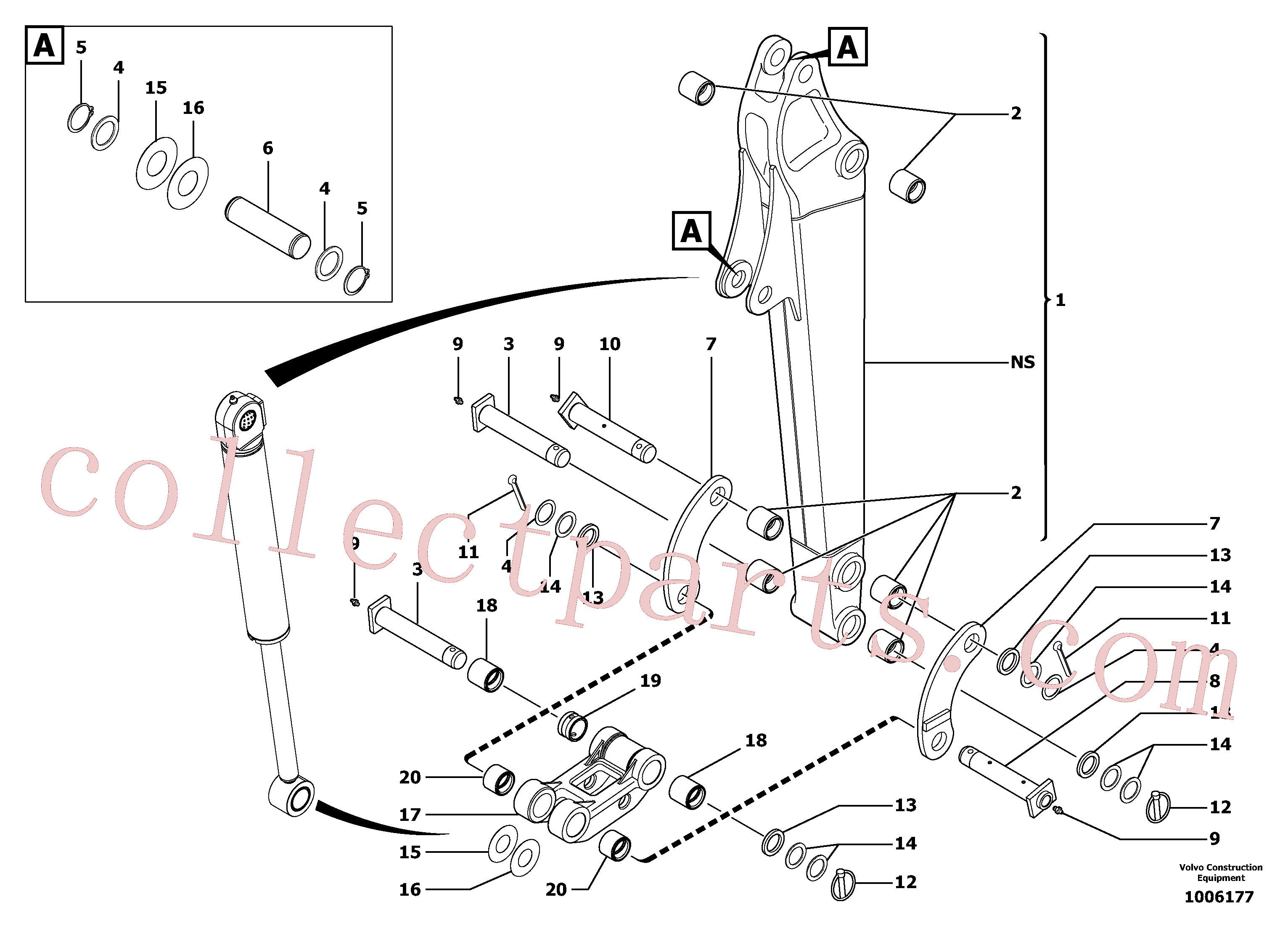 VOE11805808 for Volvo Dipper arm(1006177 assembly)