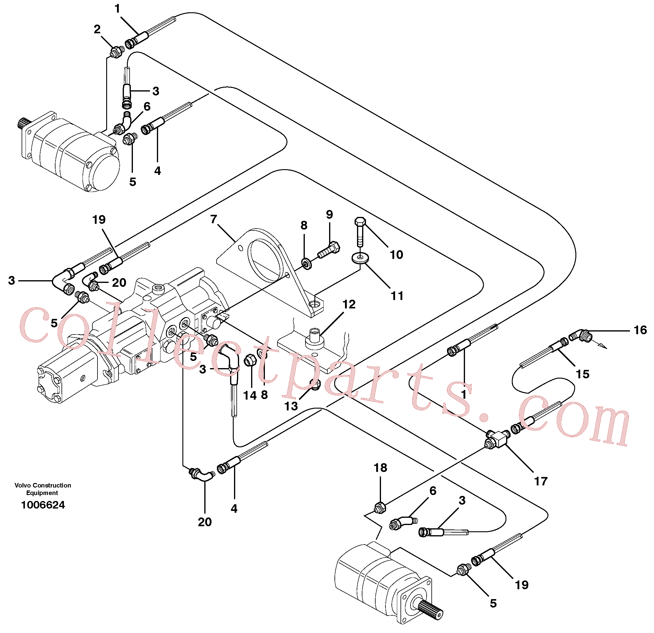 VOE950356 for Volvo Hydraulic system Transport(1006624 assembly)