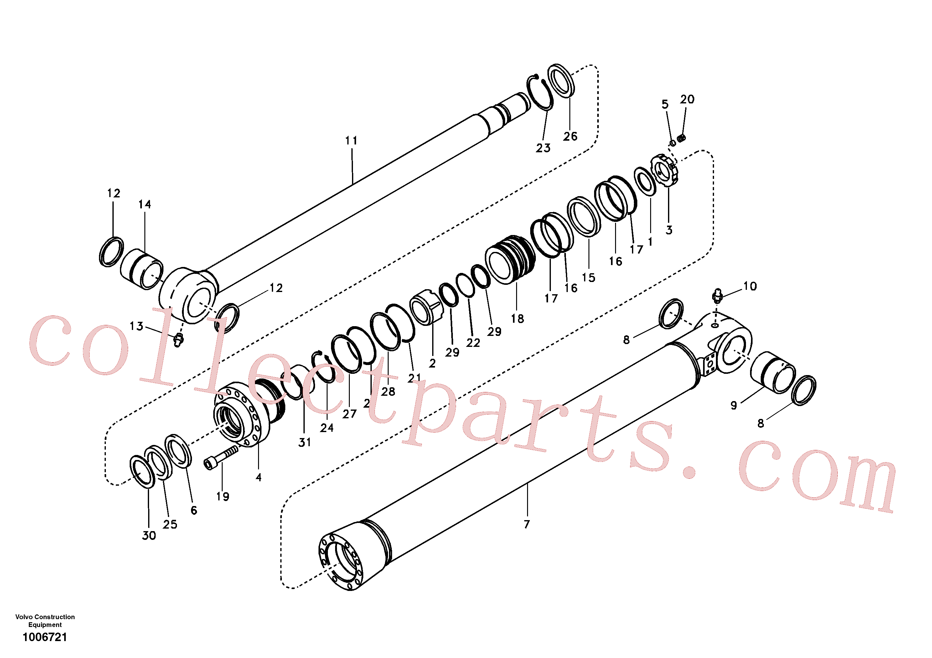 VOE14514569 for Volvo Bucket cylinder(1006721 assembly)