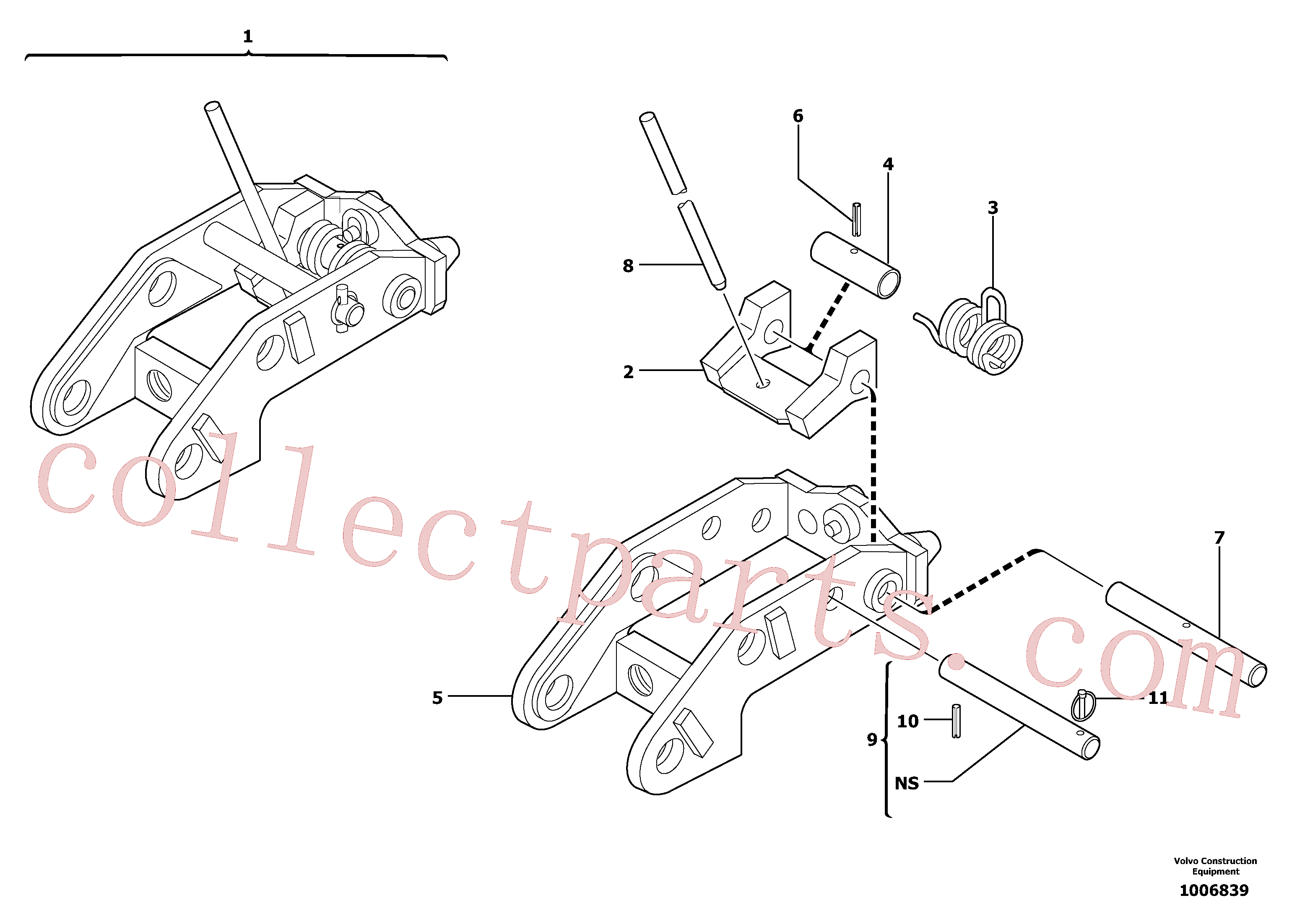 VOE11805482 for Volvo Tool holder / mechanical control(1006839 assembly)