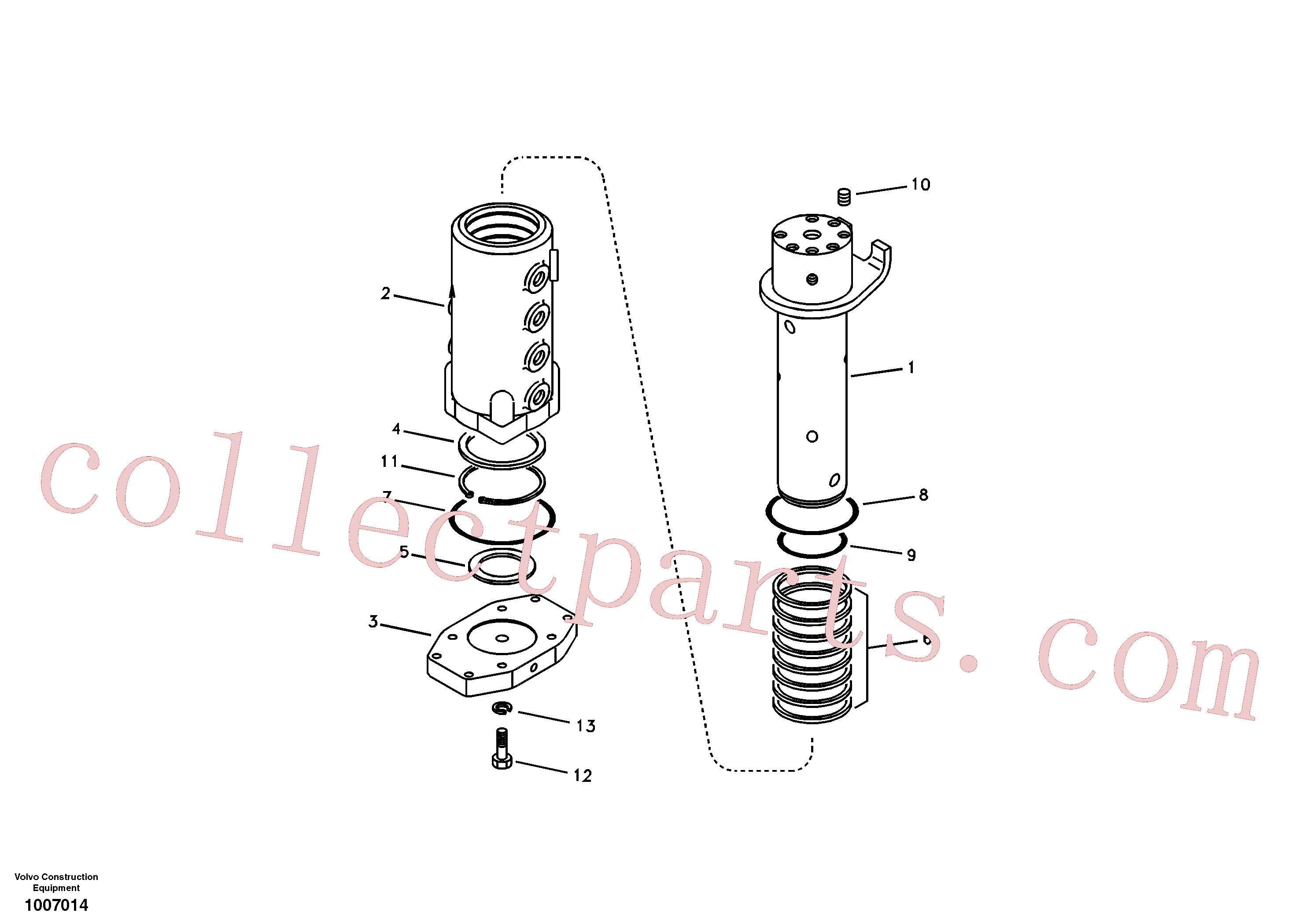 SA9511-22095 for Volvo Turning joint(1007014 assembly)