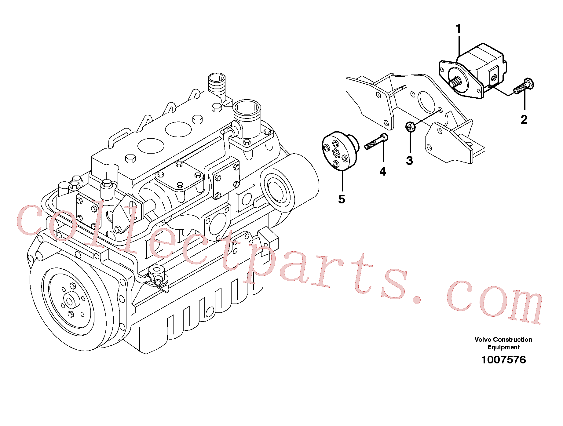VOE950356 for Volvo High flow pump, mounting(1007576 assembly)